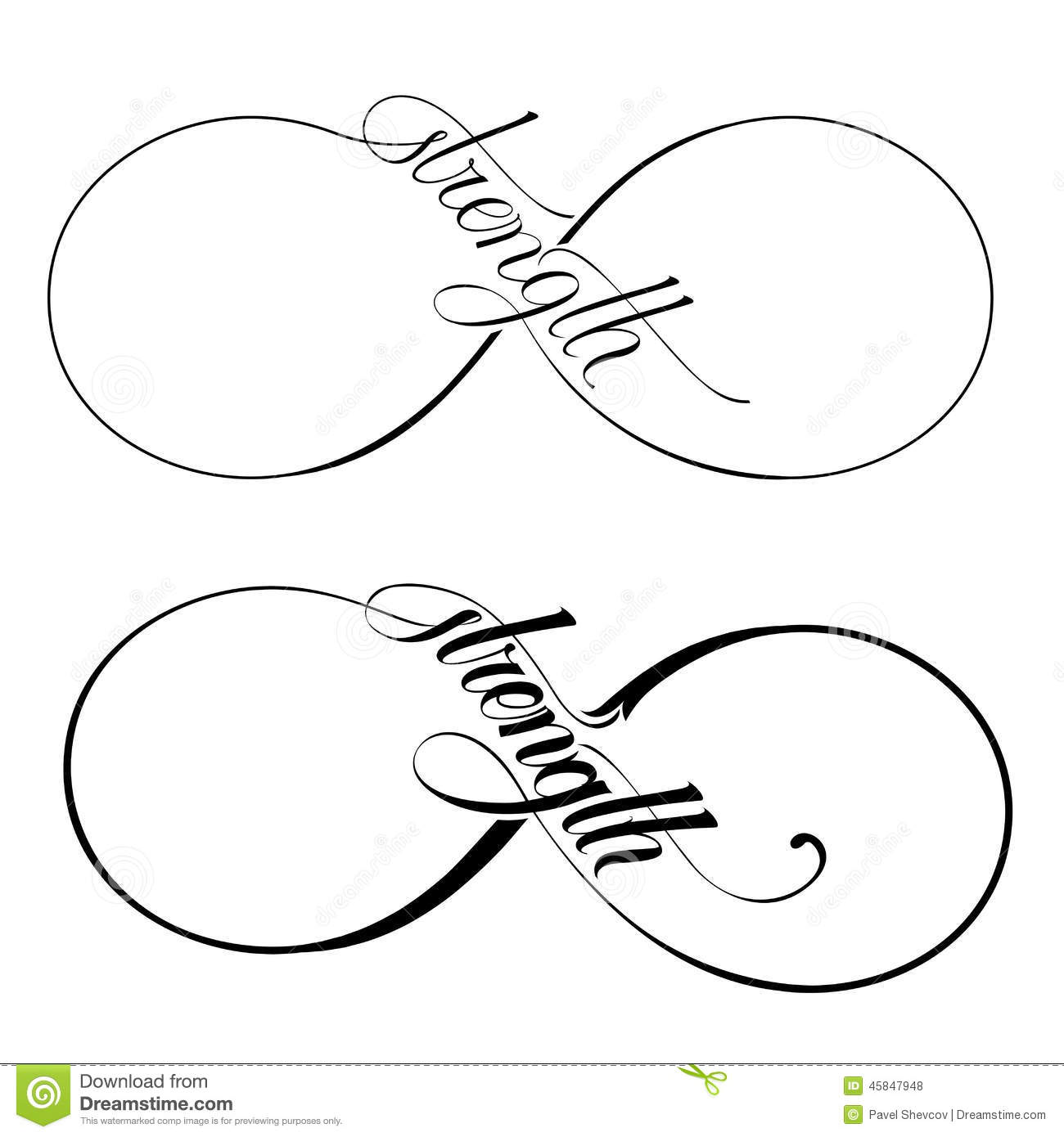 Infinity Strength Stock Vector Illustration Of Painting