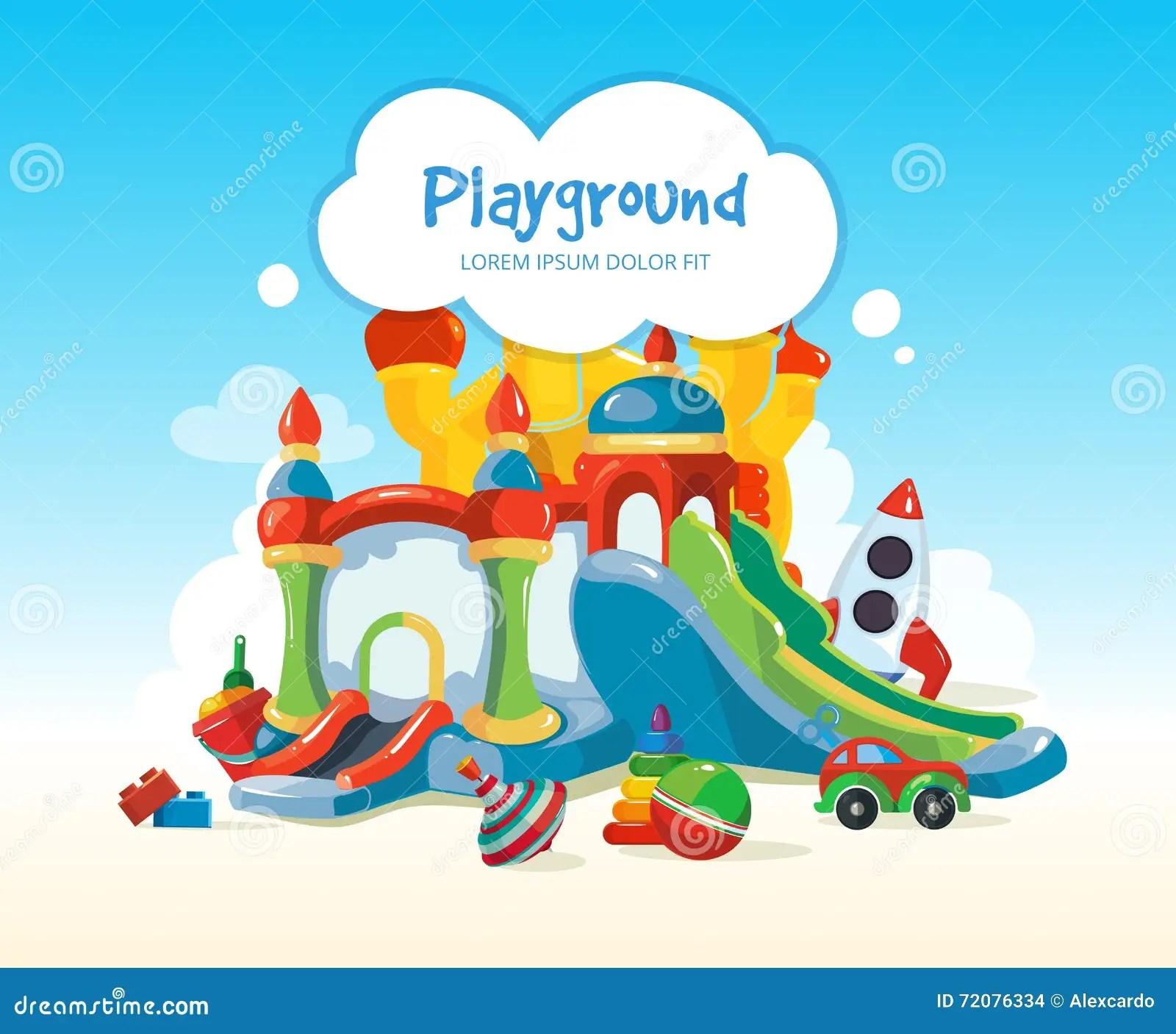 Outside Playground Cartoon