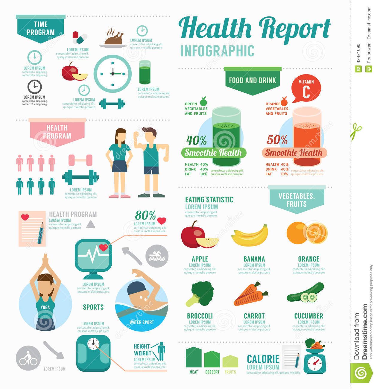Infographic Health Sport And Wellness Template Design