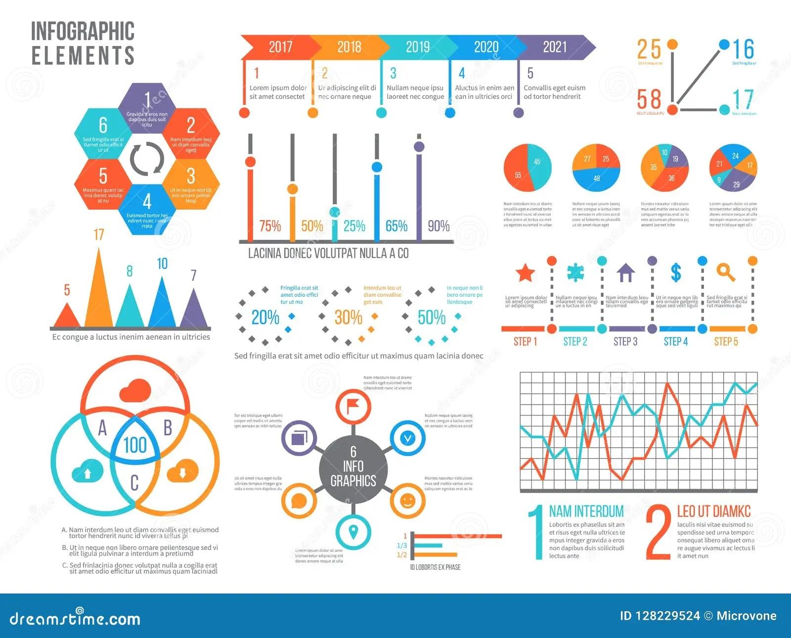 Infographics Elements Statistics Chart Option Flowchart