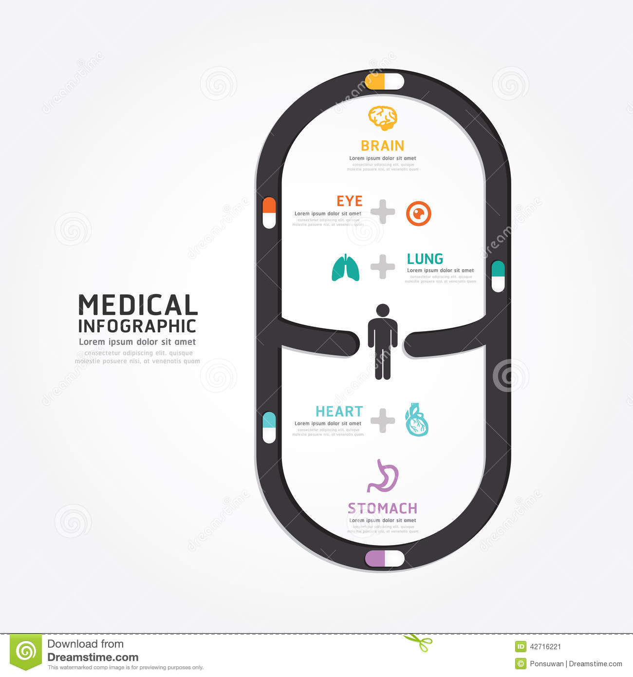 Medical Infographics Cartoon Vector