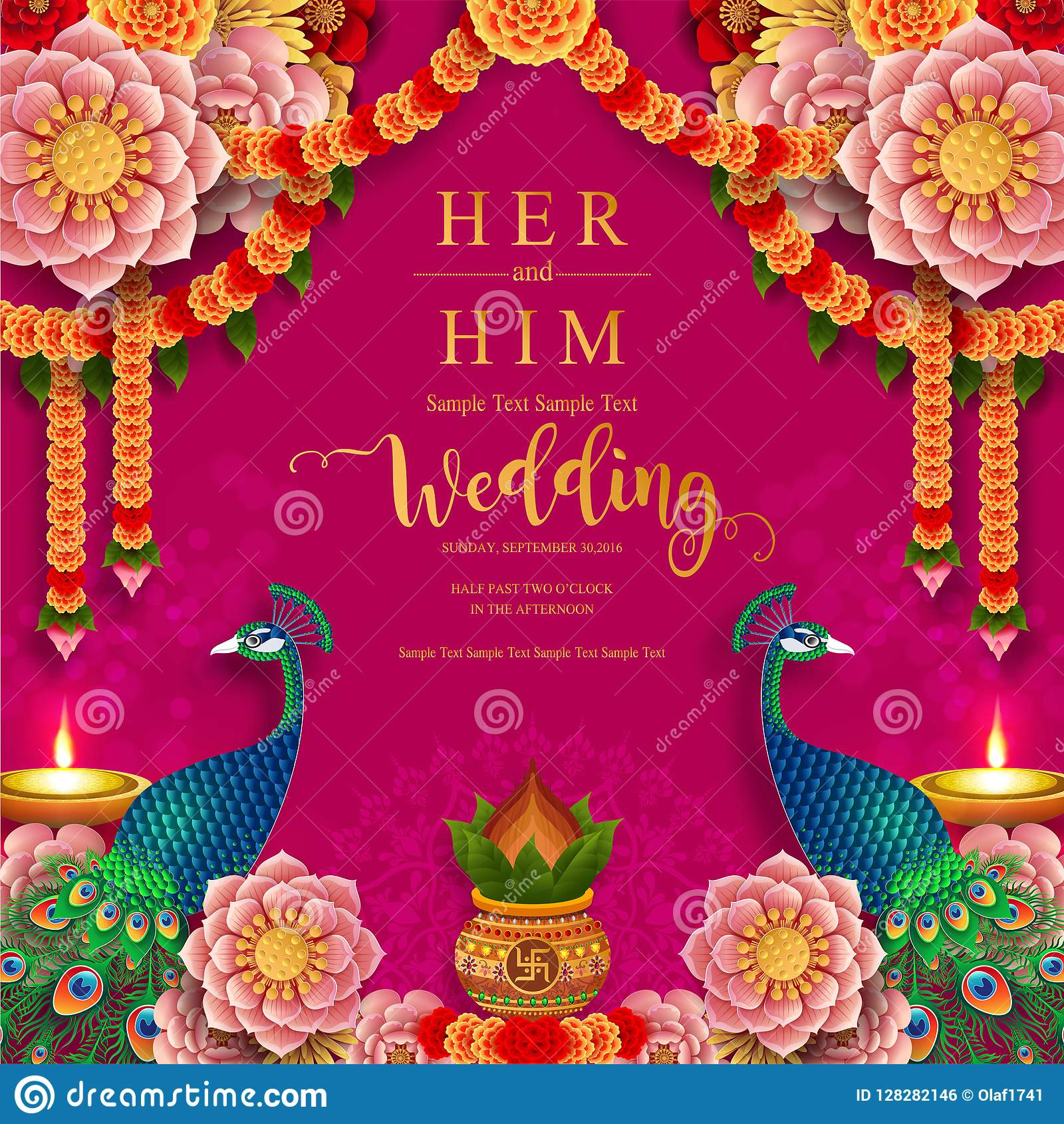 https www dreamstime com inindian wedding invitation carddian wedding invitation card templates gold patterned crystals paper color background image128282146