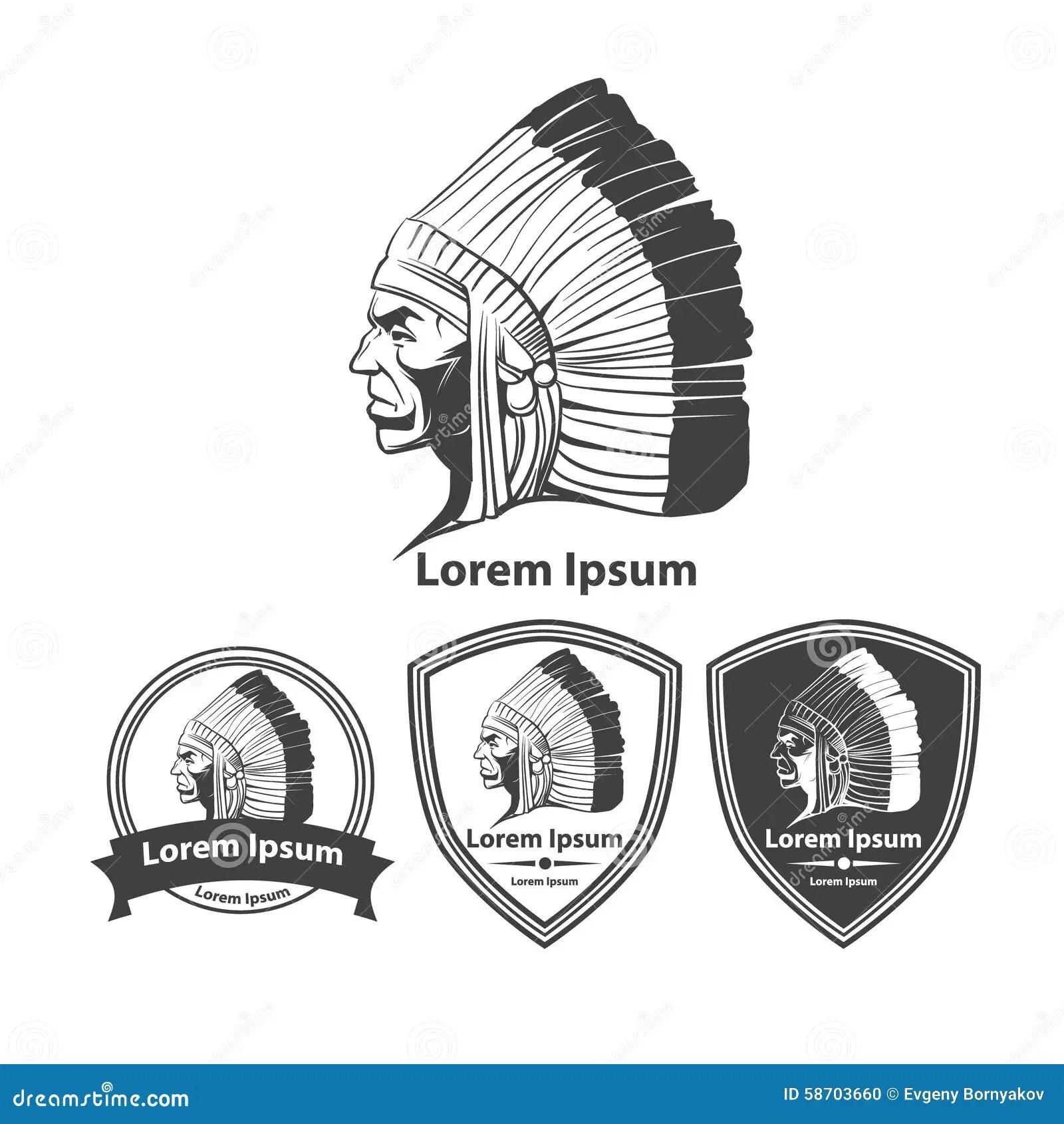 Mayan Warrior Isolated Cartoon Vector