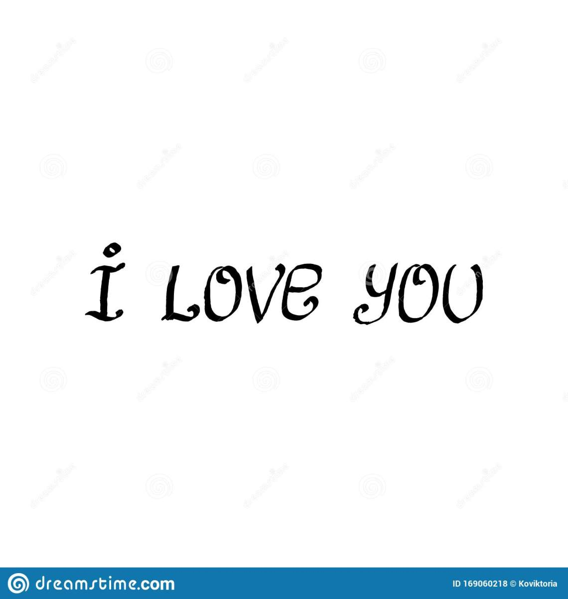 Download Ink Pen Letters I Love You. Text Isolated On White ...