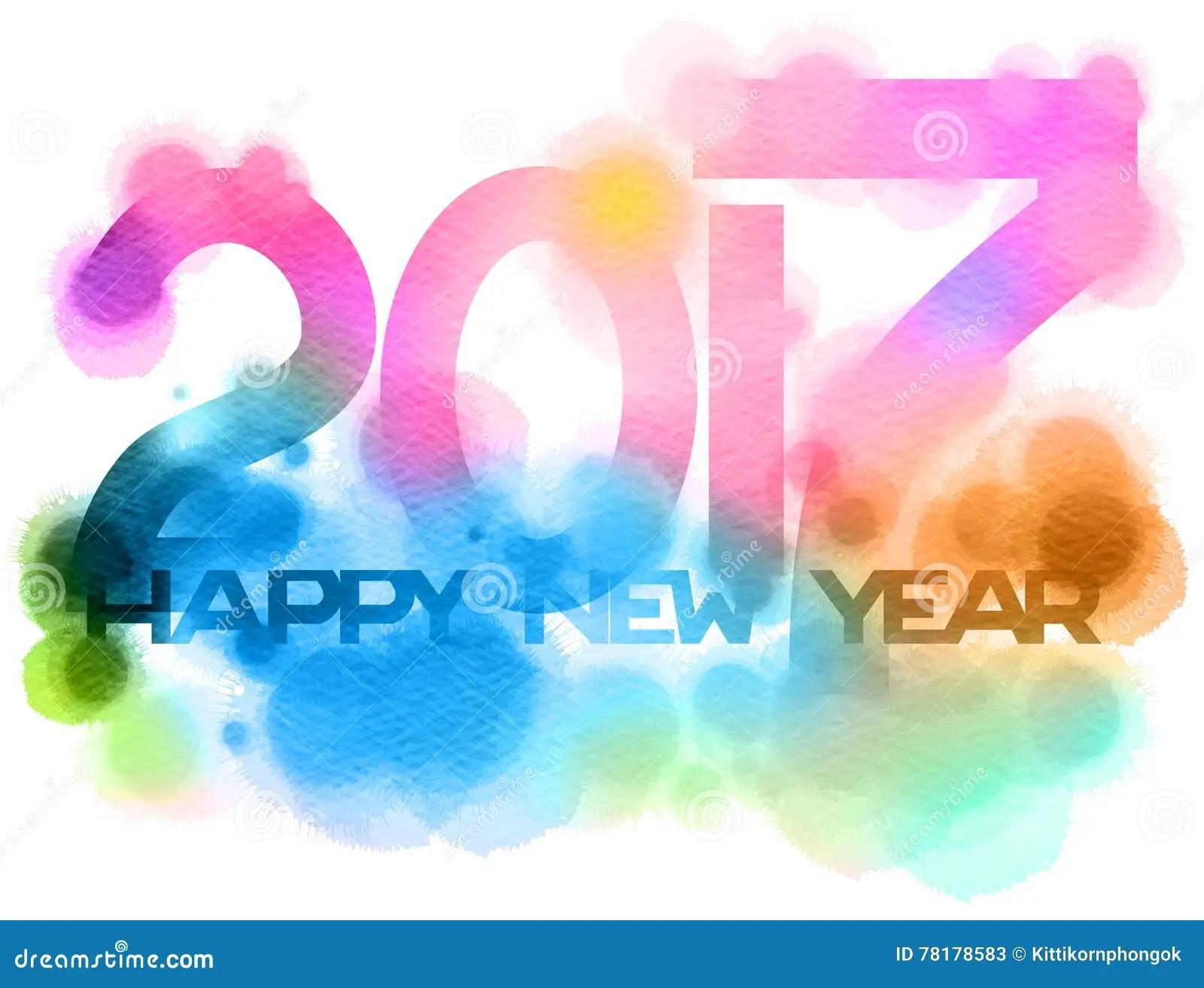 happy new year white background