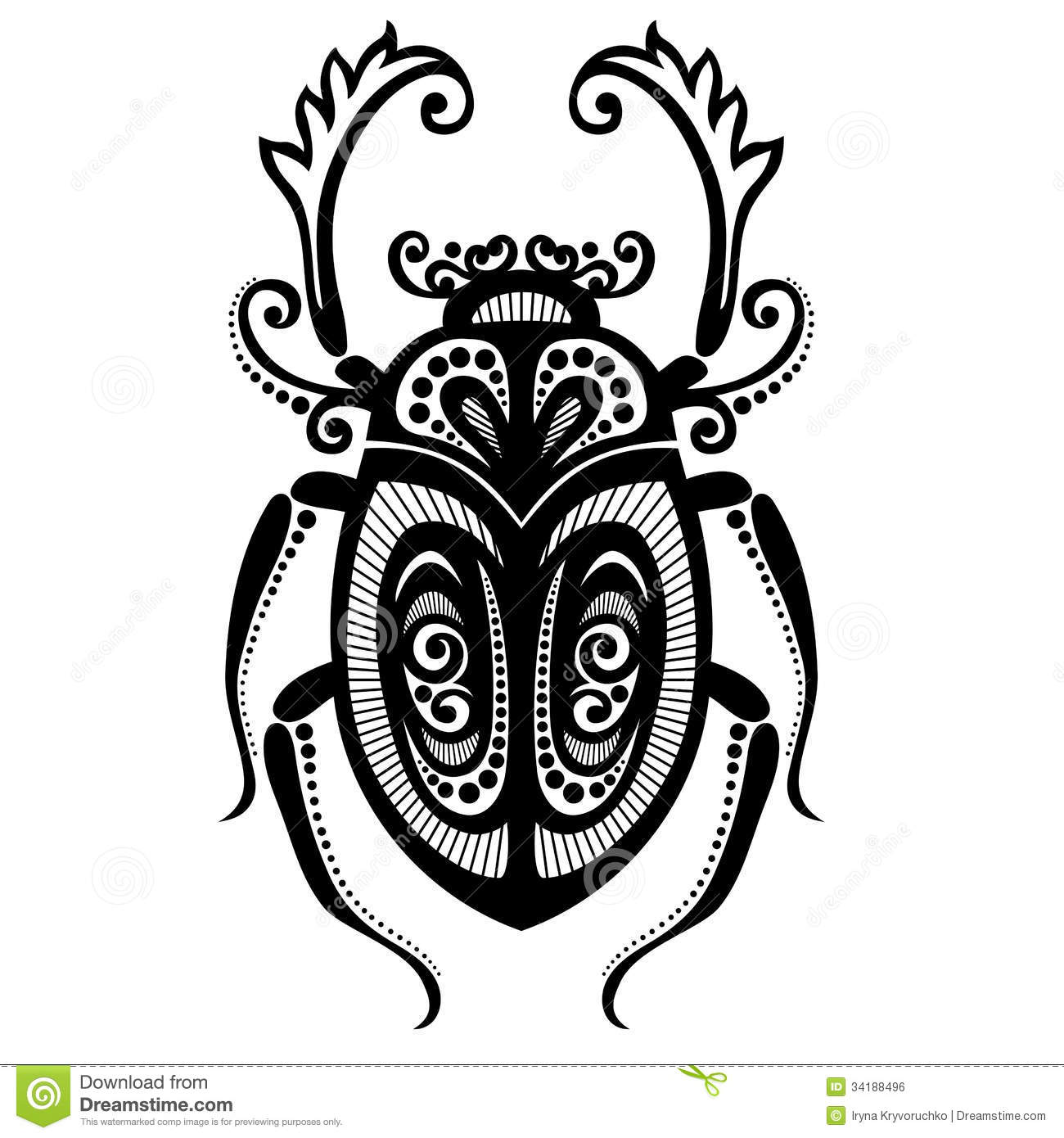 Insect Beetle Stock Vector Illustration Of Animal Style