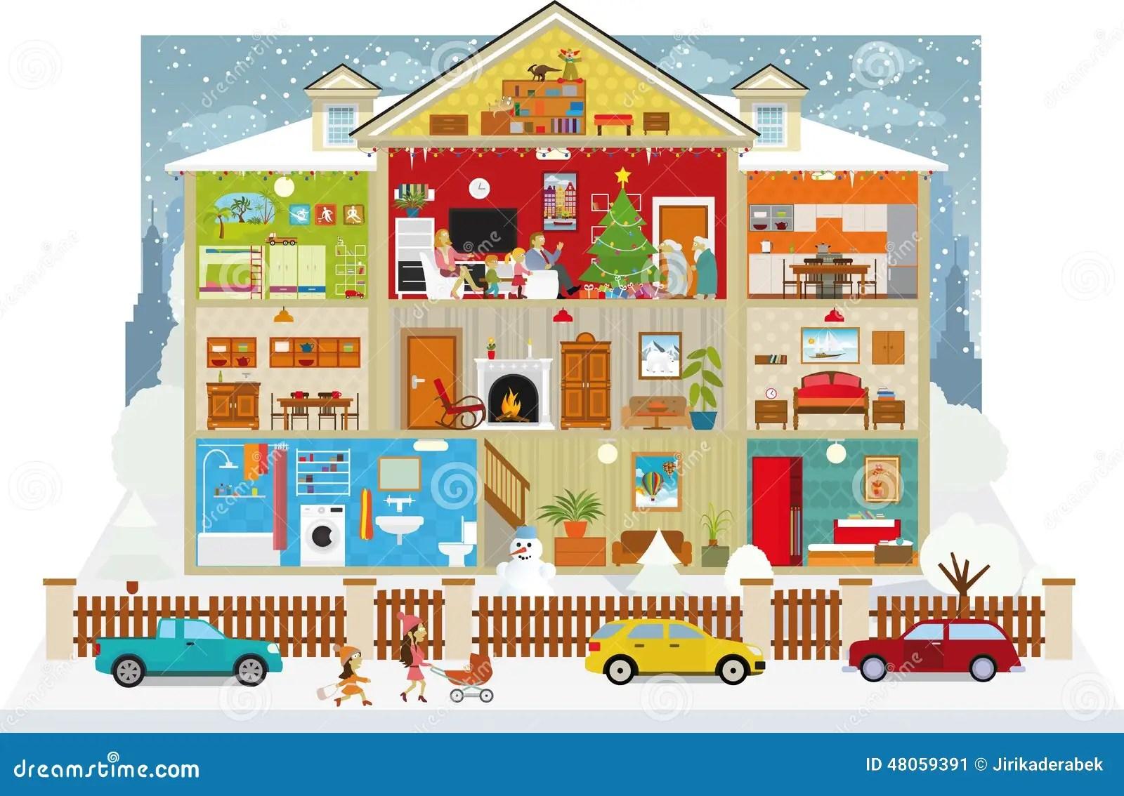 Casas Dibujo Por Dentro De