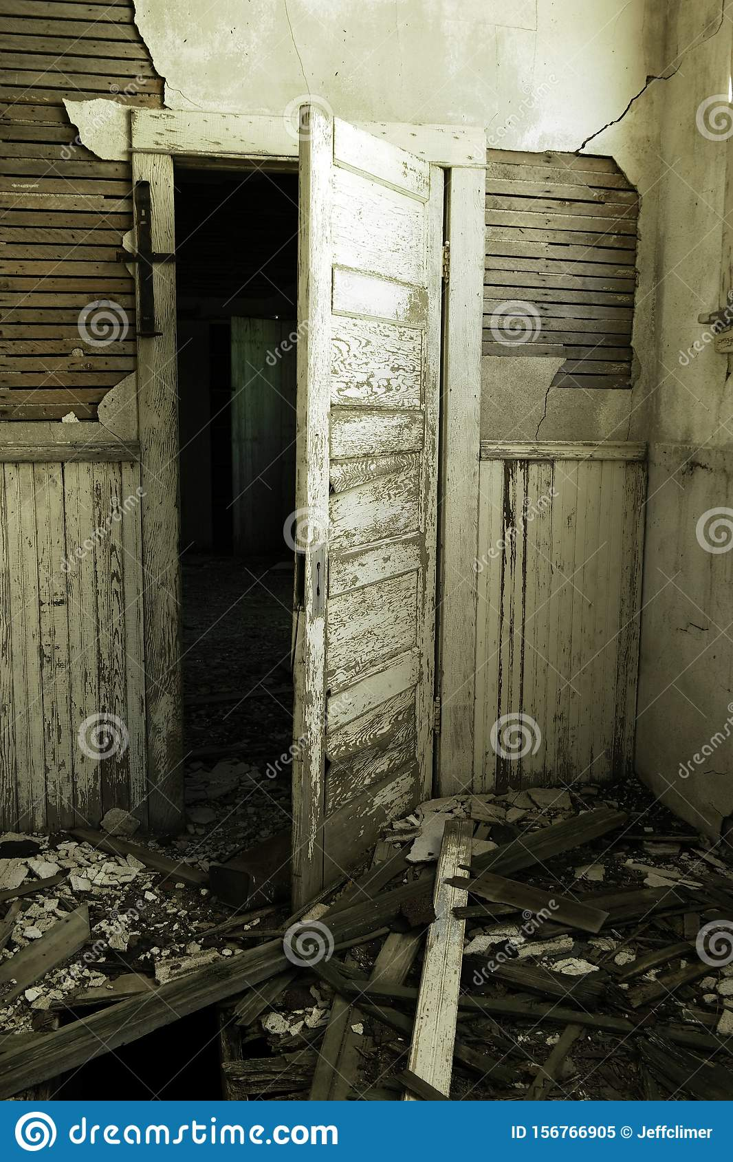 Inside An Old One Room School House Stock Image