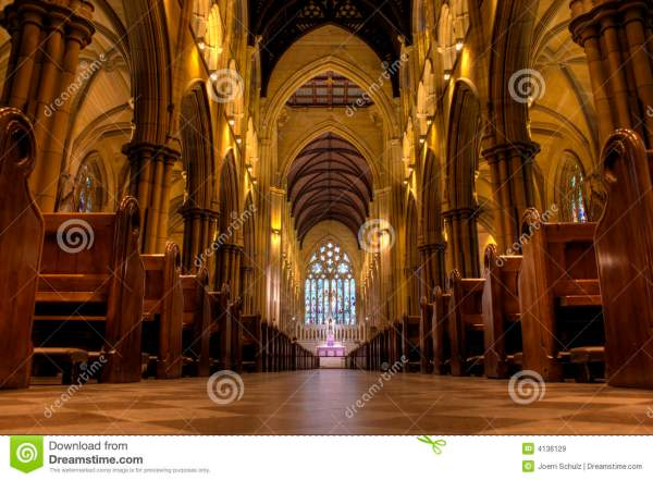Inside St Mary's Cathedral stock image. Image of christ ...