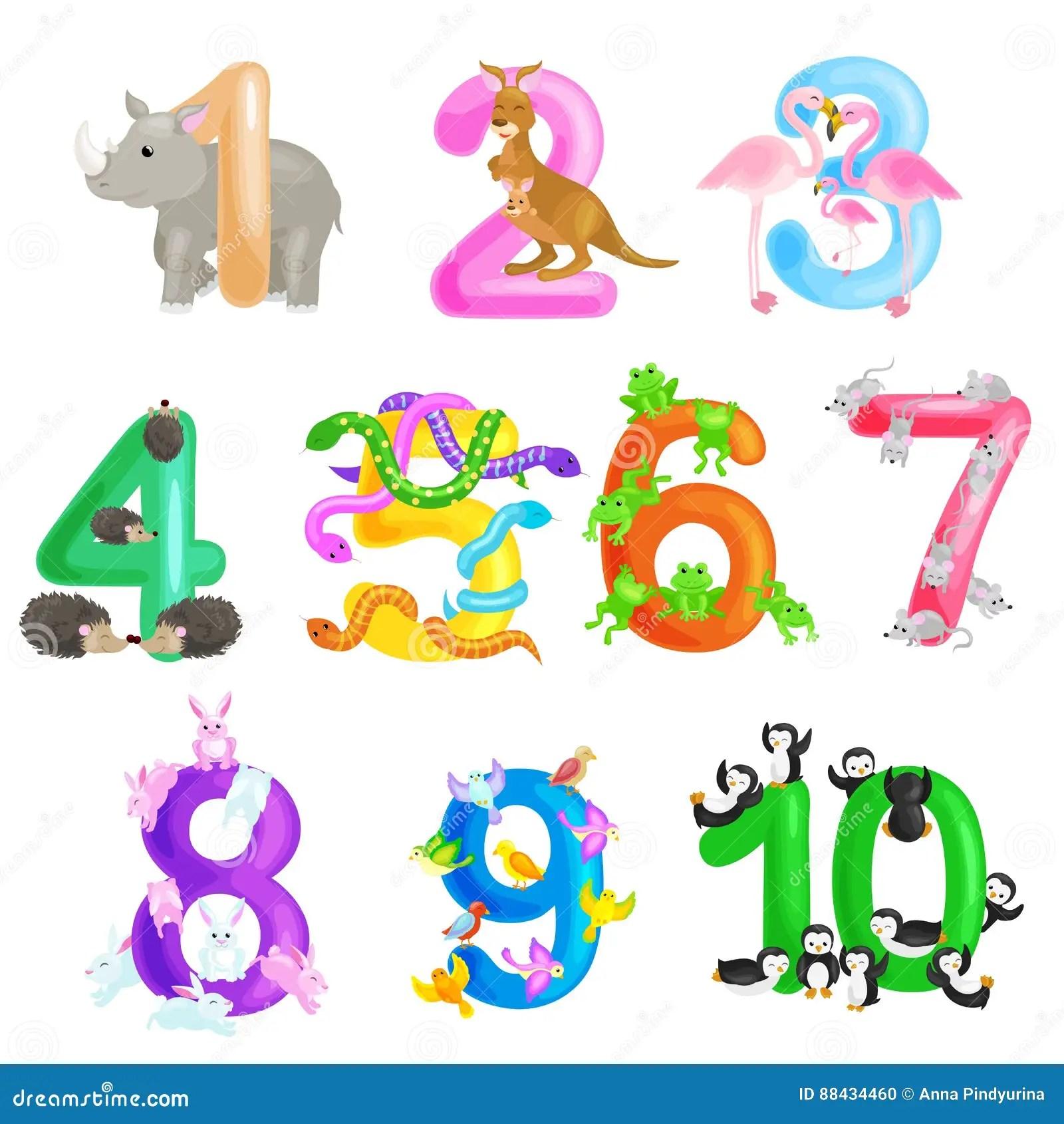 Insieme Dei Numeri Ordinali Per I Bambini D Istruzione Che
