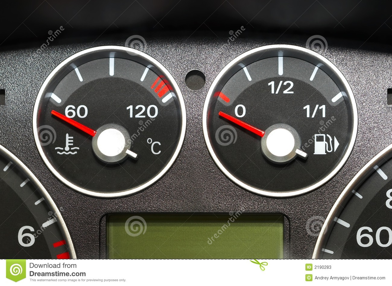 Instrument Panel Of The Car Stock Image