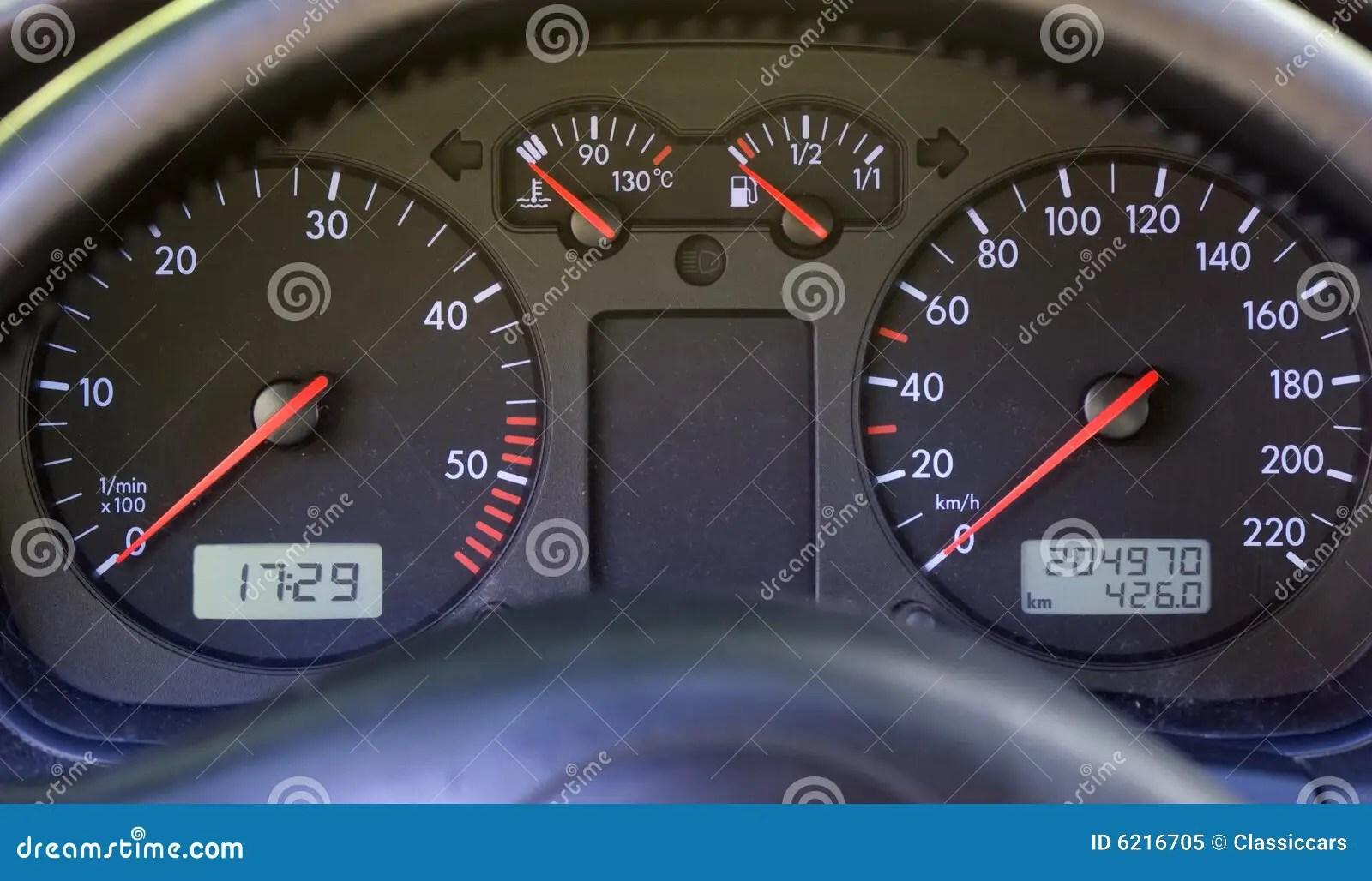 Instrument Panel On Modern Car Dashboard Stock Image
