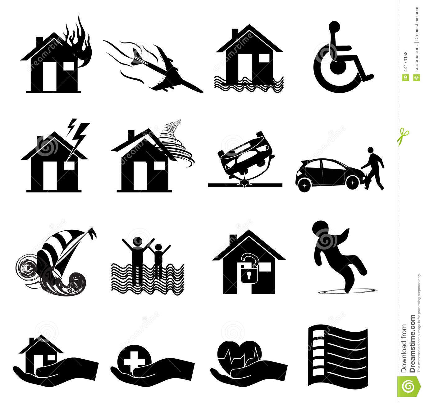 Injury Icons Trauma And Sickness Vector Illustration
