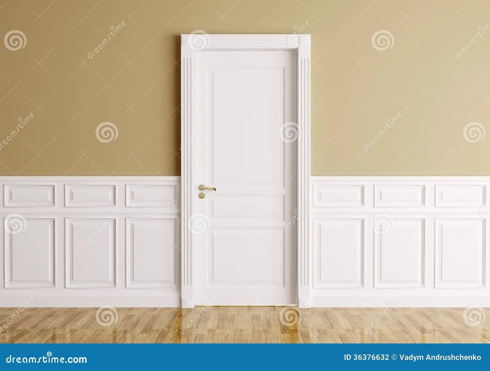 Interior With Classic Door Stock Illustration