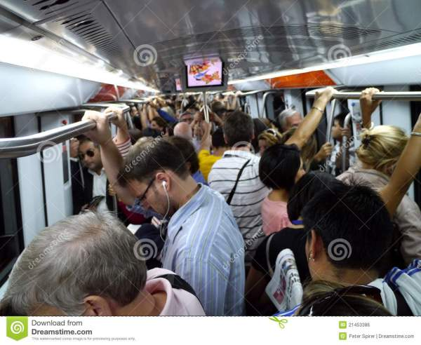 Interior Of Crowded Subway In Rome Editorial Photo - Image ...