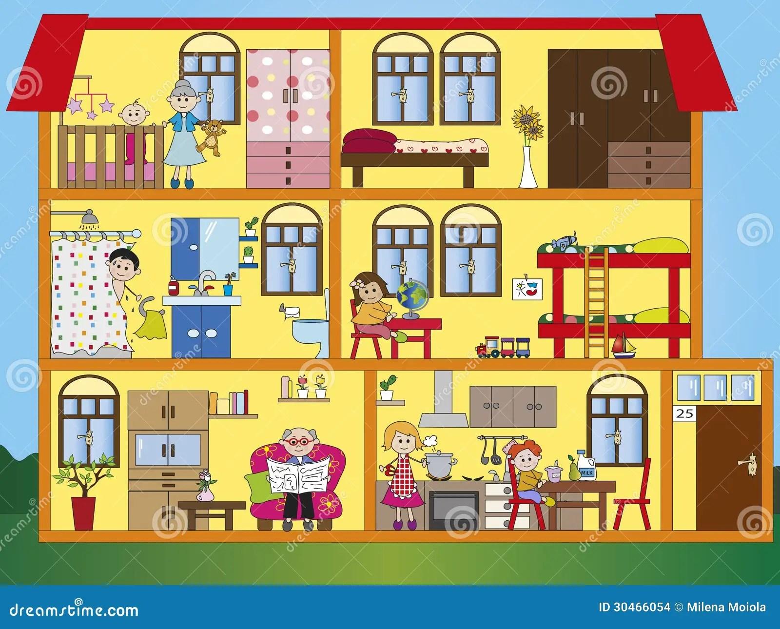 Interior De La Casa Stock De Ilustracion Ilustracion De