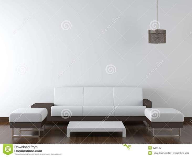 Interior Design Modern Furniture On White Wall Stock Image   Image     Interior design modern furniture on white wall