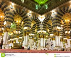 Interior Mosque al Nabawi