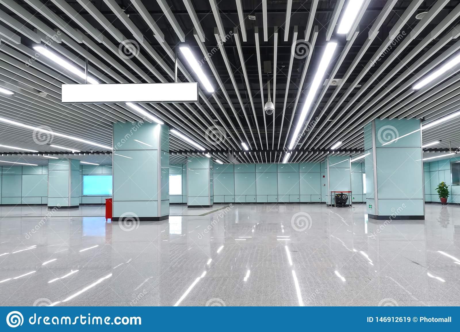 Interior Of Modern Architecture Commercial Building Led Lighting System Stock Image Image Of Design Fixture 146912619