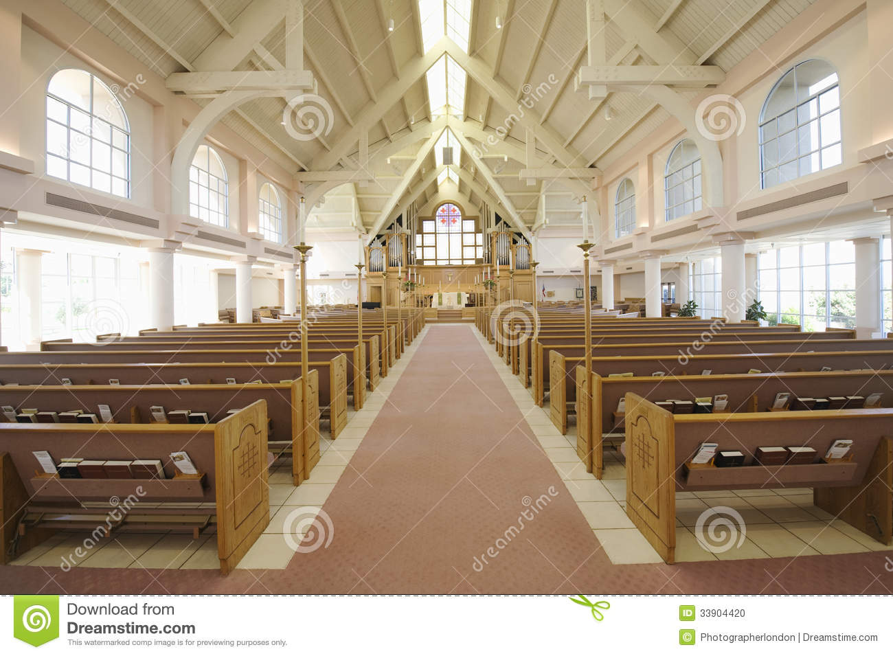 Interior Of Modern Church Stock Photo Image Of Beautiful