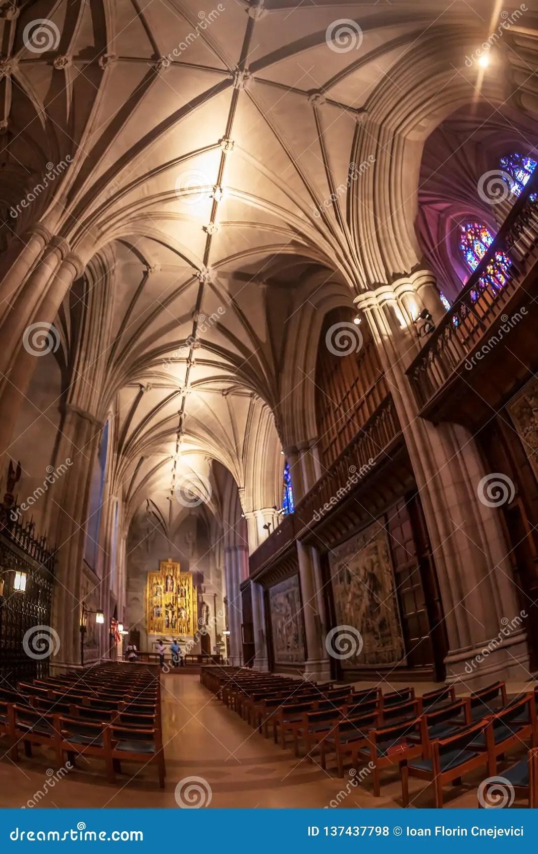 Interior Of The National Cathedral Washington Dc Usa