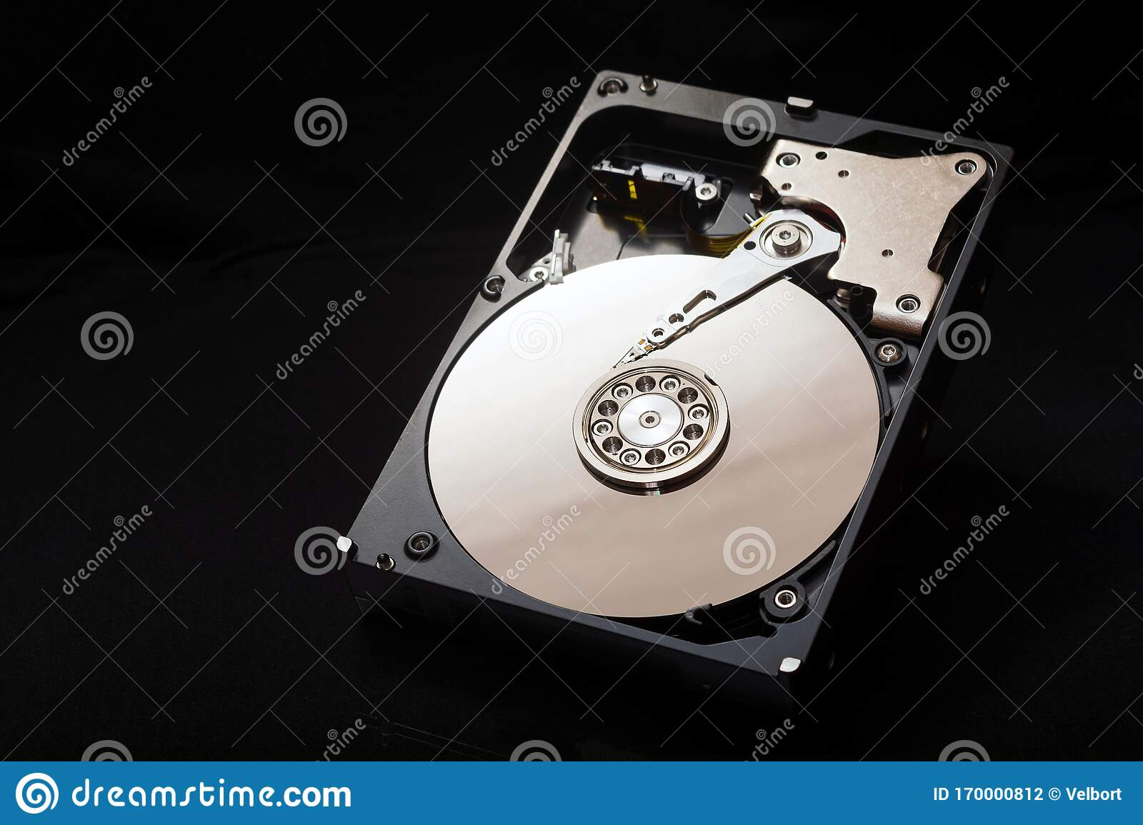 Internal Parts Of The Hard Drive Hdd Computer Memory