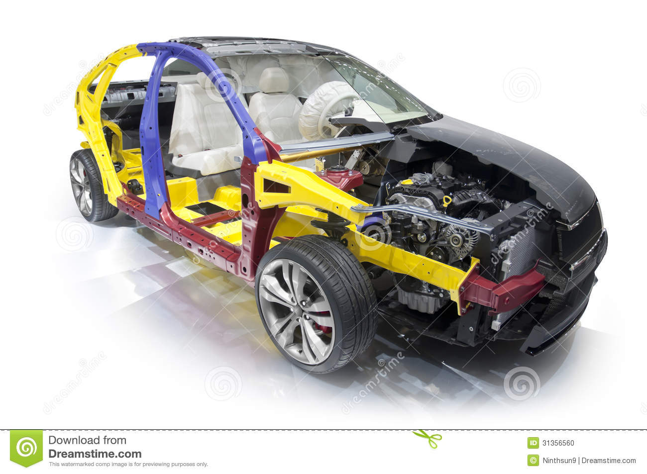 The Internal Structure Detail Of A Modern Car Stock Photo