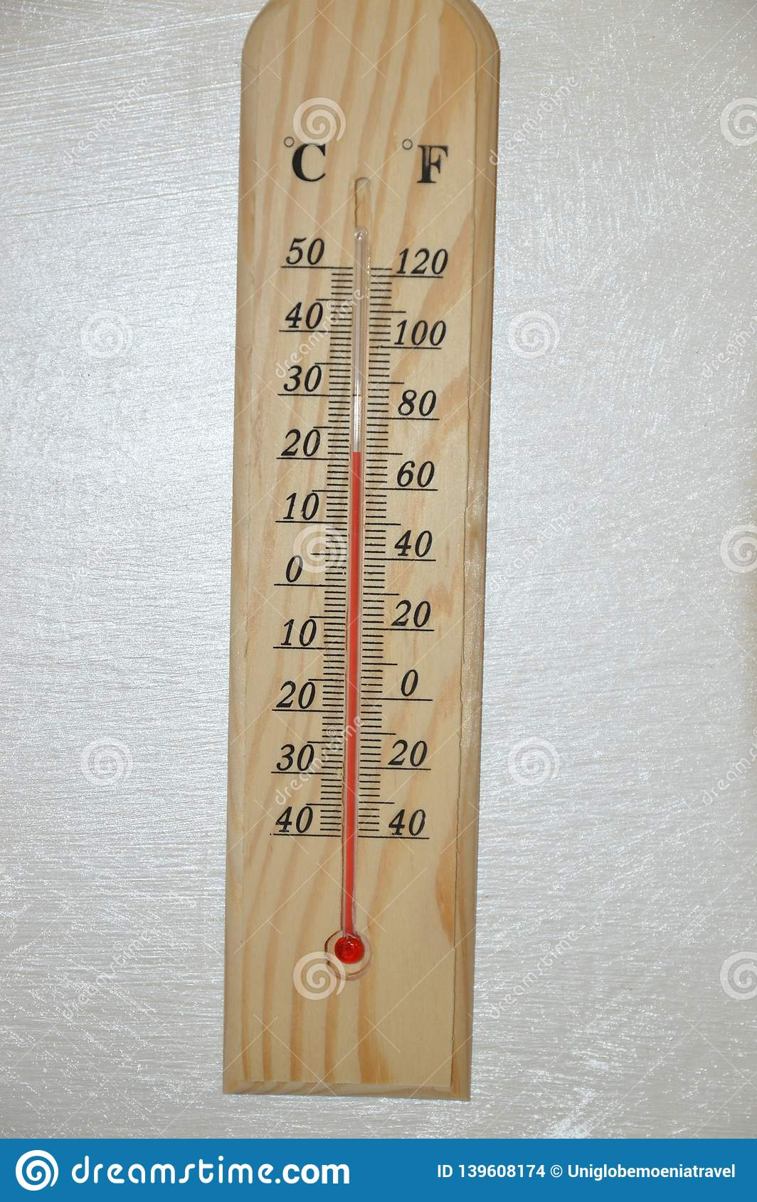 Thermometer Measuring Hot Cold Temperature Stock Images
