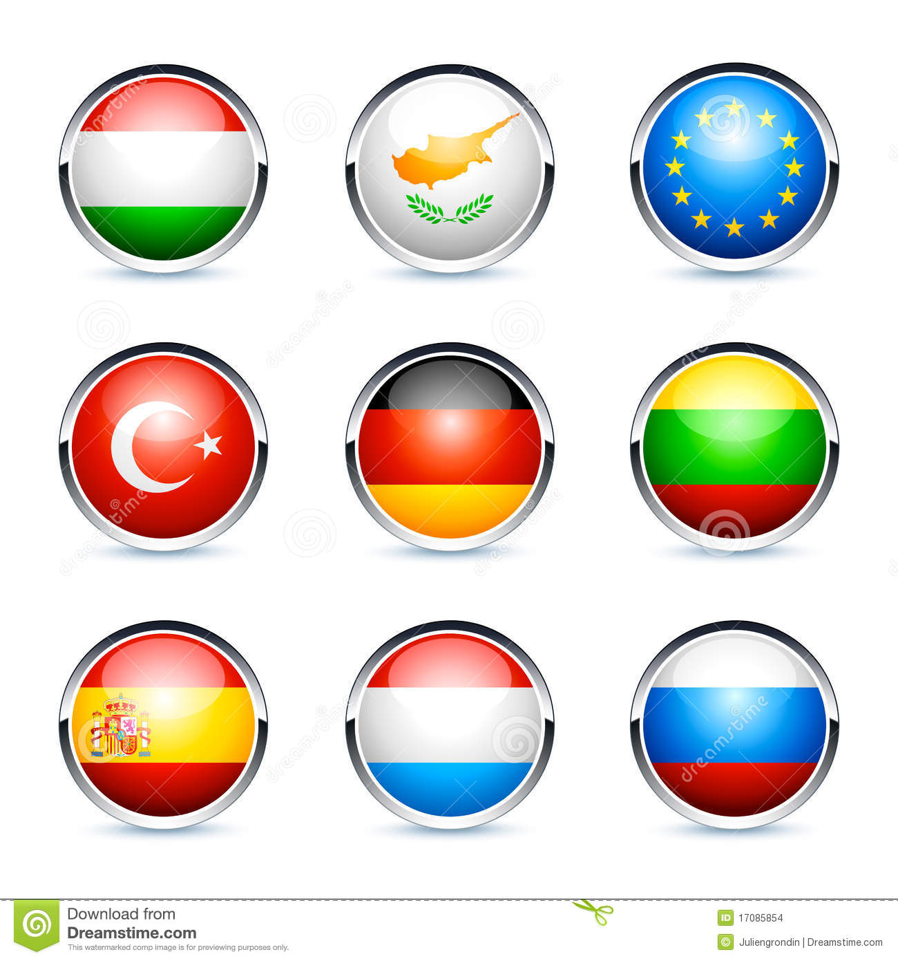International Flags Icons Stock Images Image 17085854