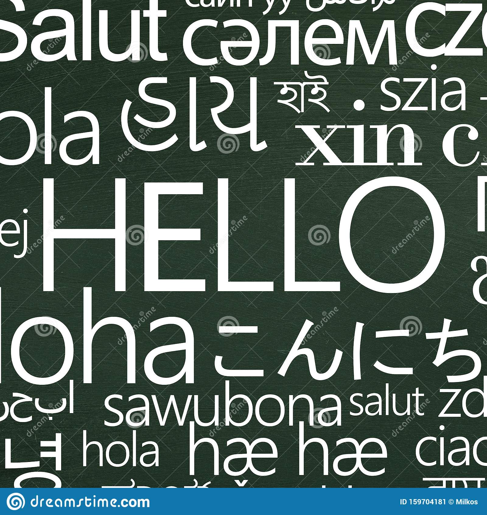 Word Hello In Different Languages For School Advertisement