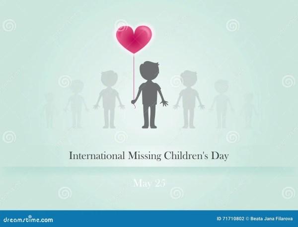International Missing Children´ S Day Vector Stock Vector ...