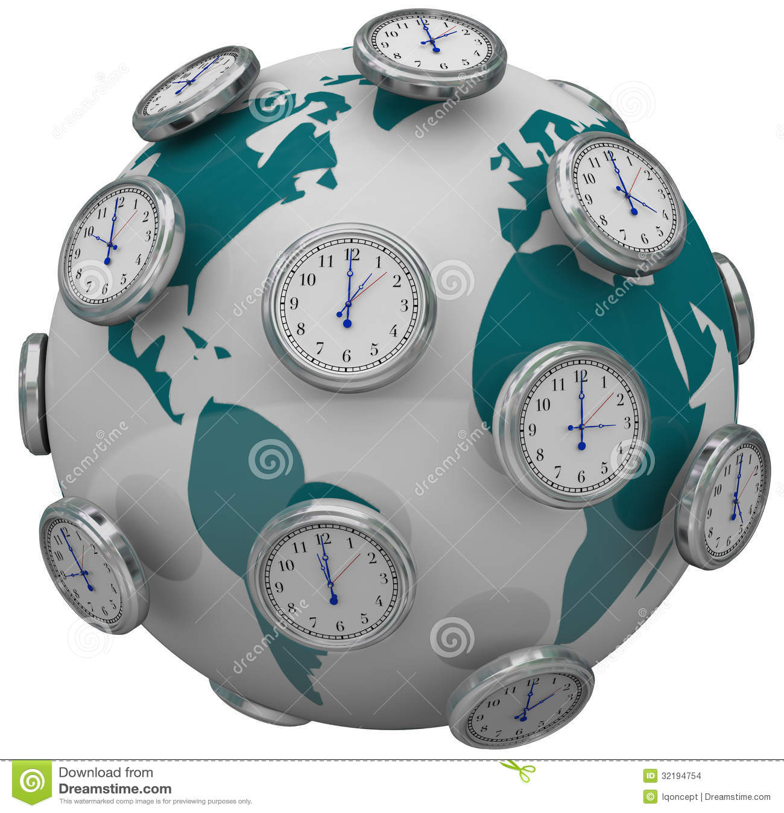 International Time Zones Clocks Around World Global Travel
