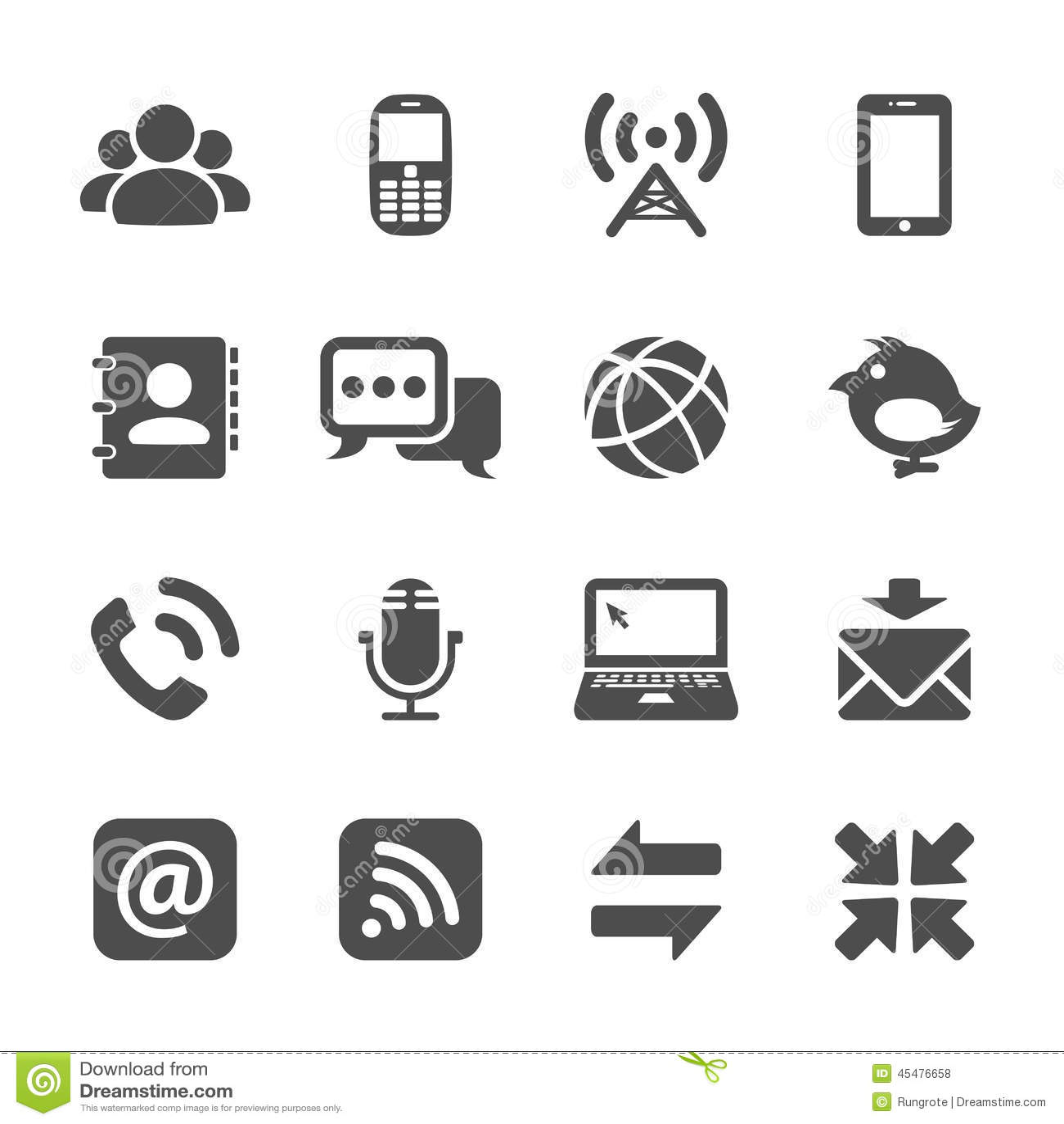 Communication Icon Set Vector Eps10 Vector Illustration
