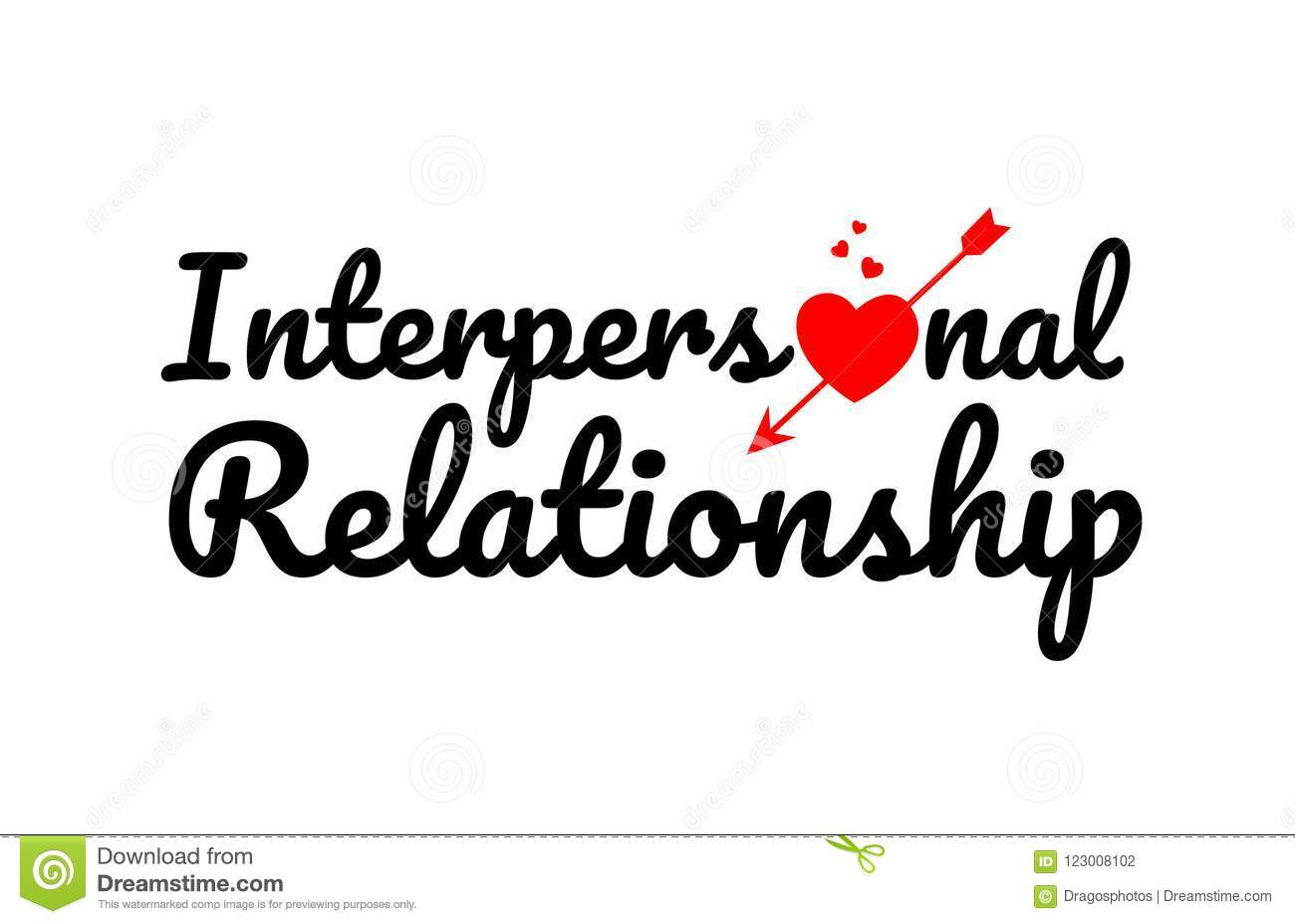 Interpersonal Relationship Word Text Typography Design