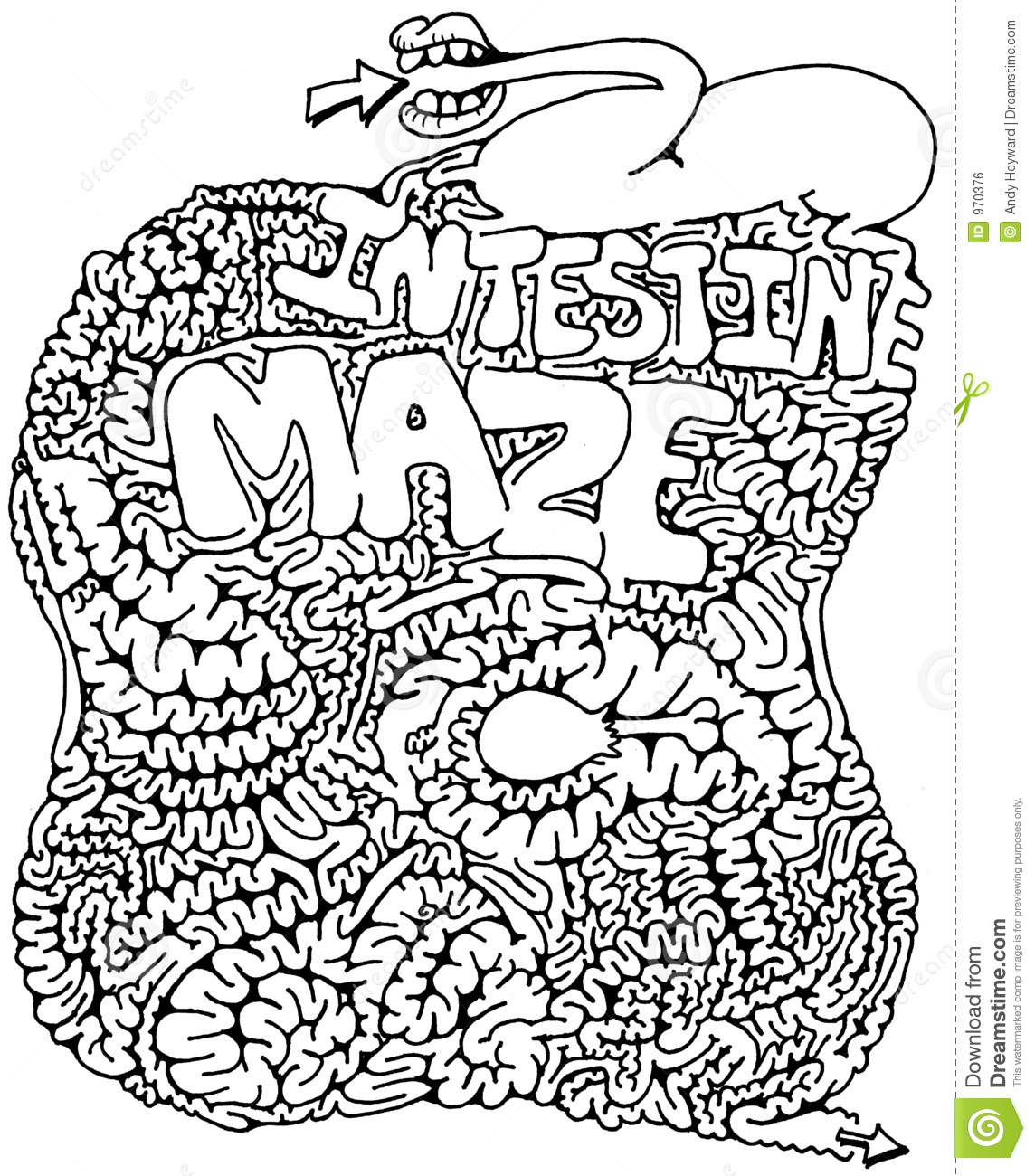 Intestine Maze Royalty Free Stock Image