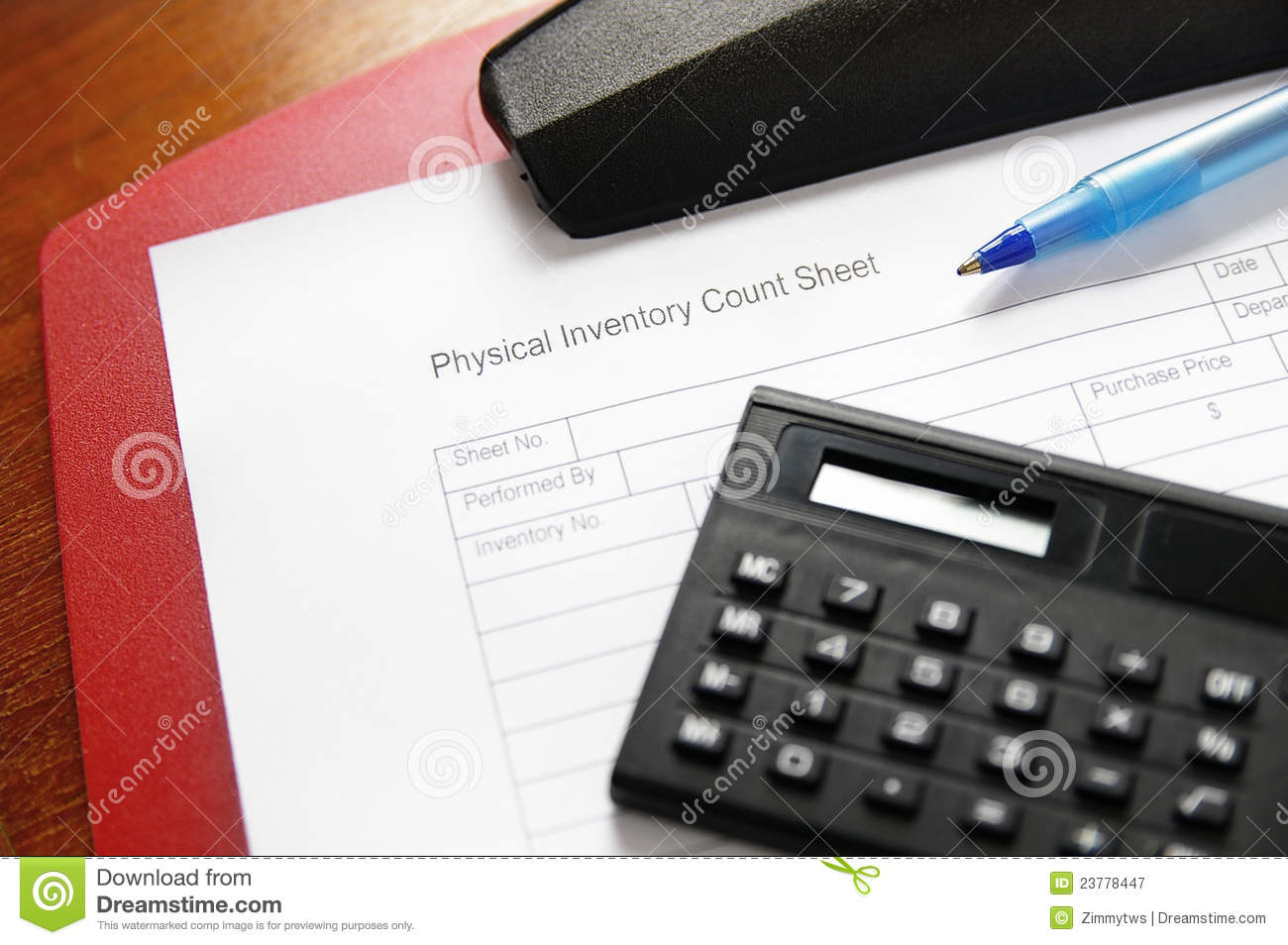 Inventory Sheet Stock Image Image Of Number Paper Amount