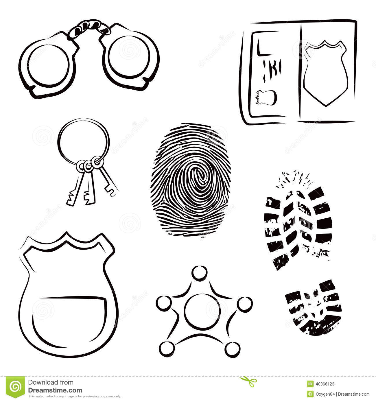 Investigation Icons Stock Vector