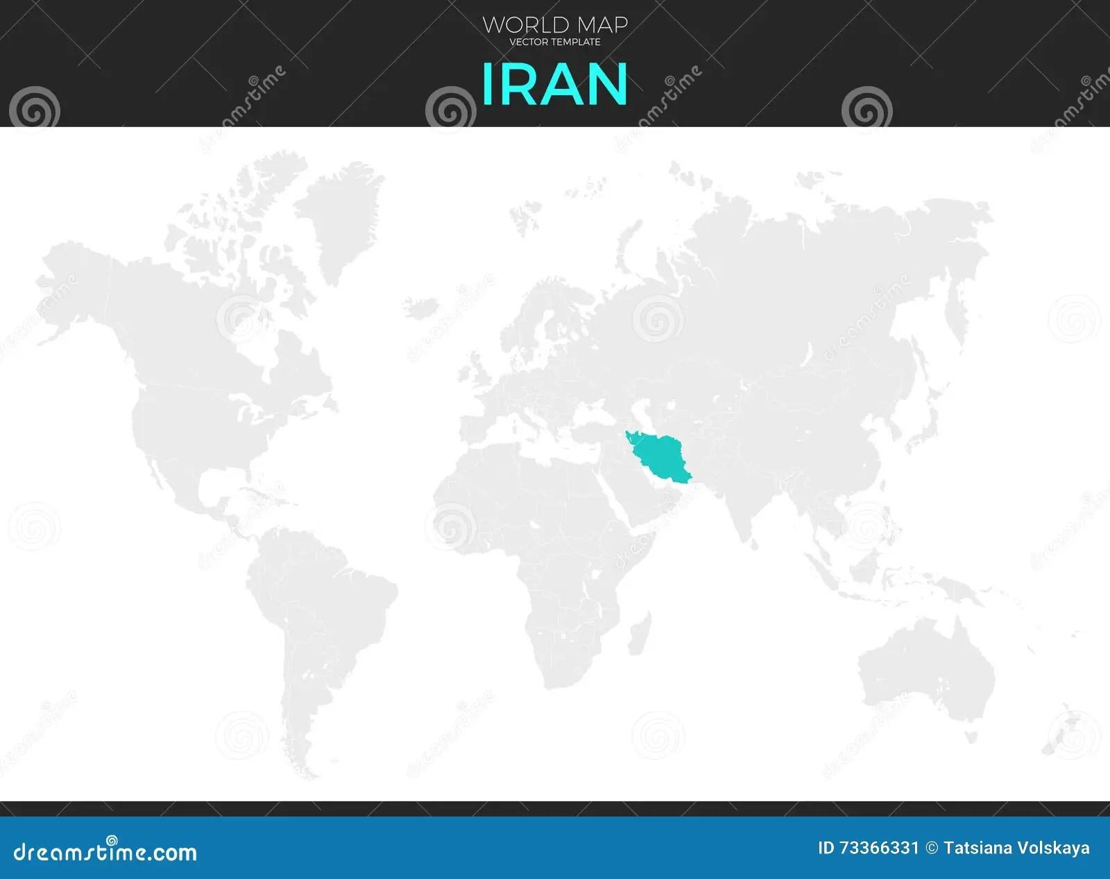 Iran Location Map Stock Vector Illustration Of Earth