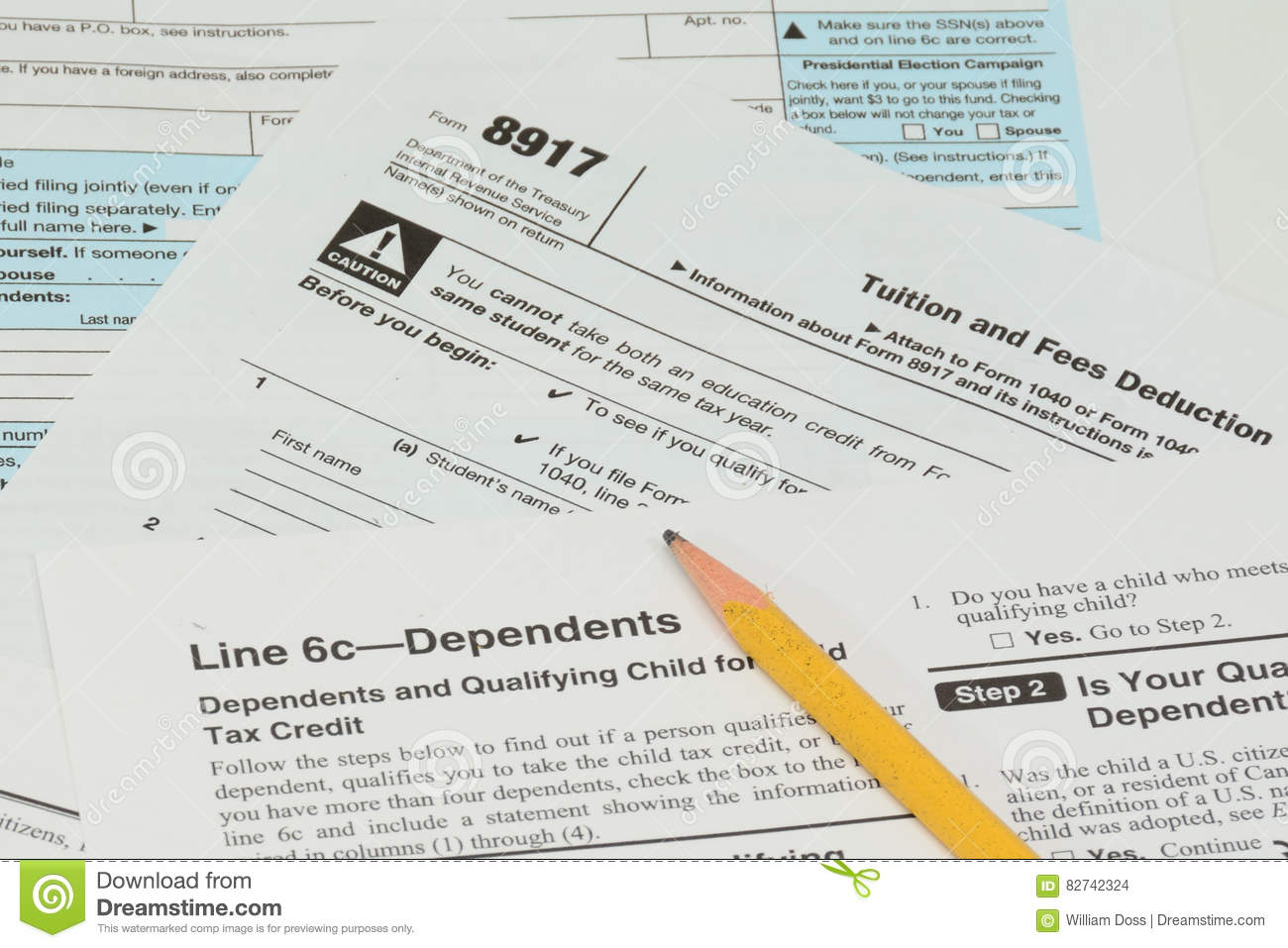 Irs And Fafsa Tax Forms Stock Photo Image Of Tree Season
