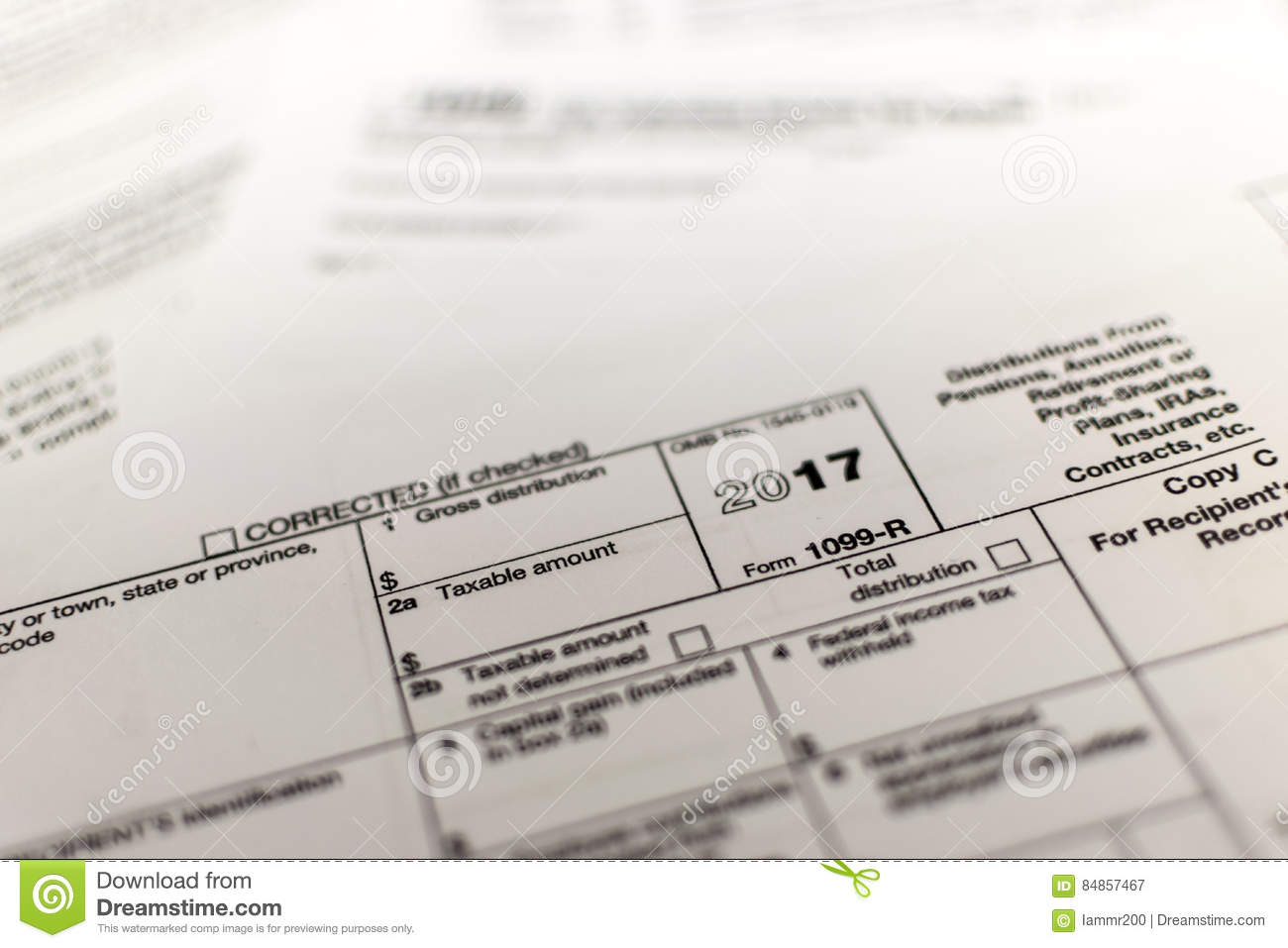 Irs Tax Form R Editorial Photography Image Of
