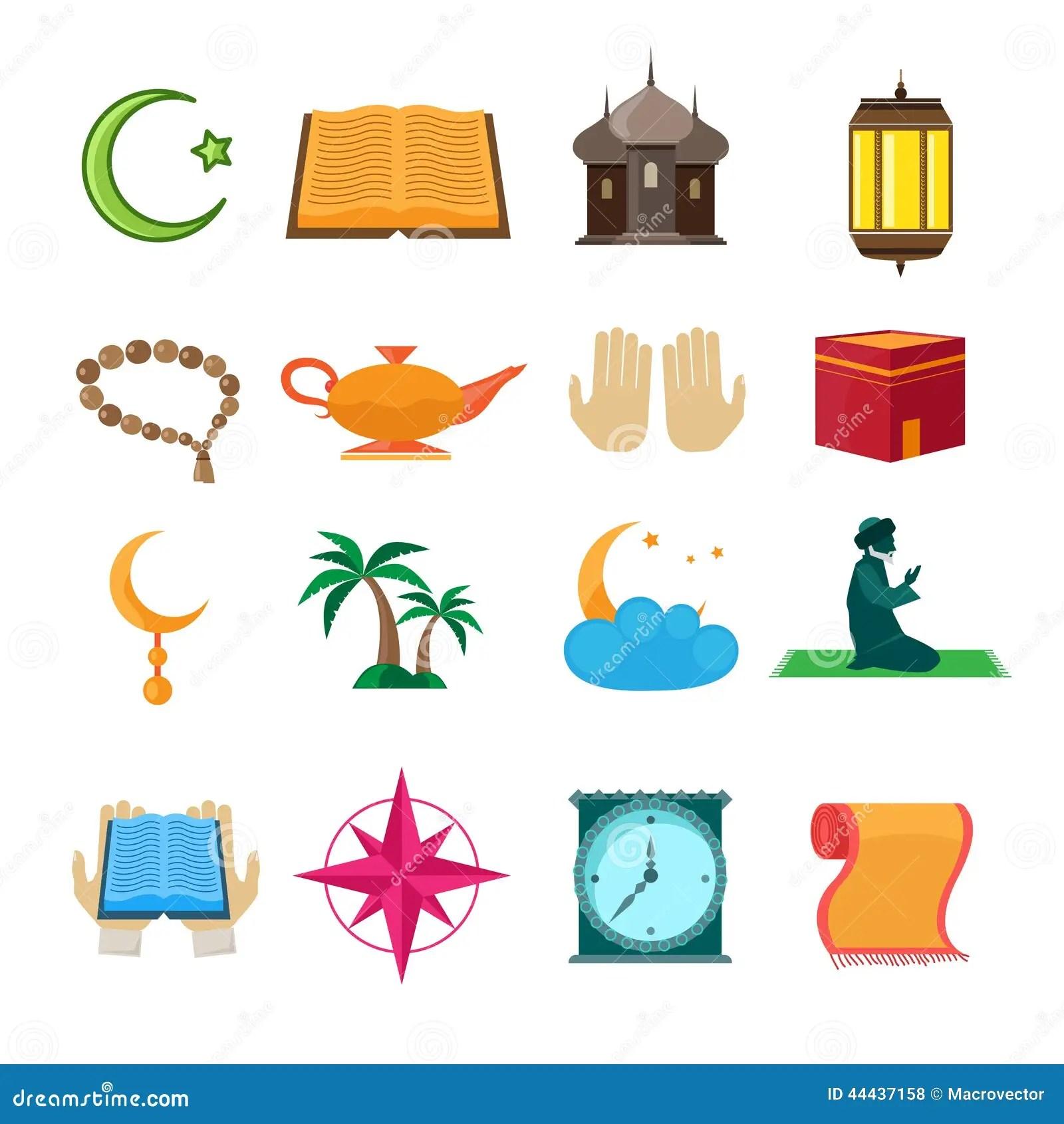 Islam Icons Set Stock Vector Illustration Of Dangler