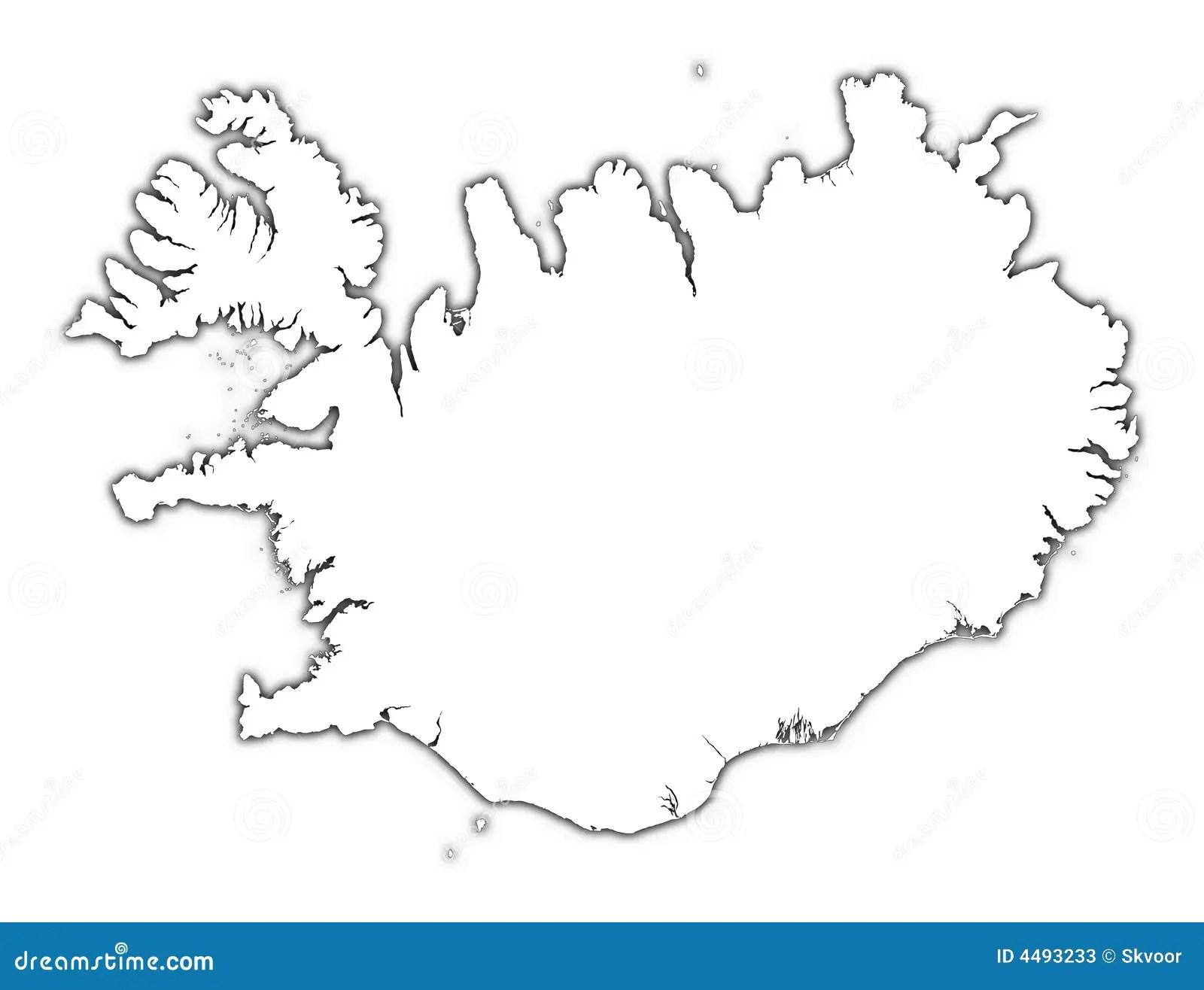 Islandia Mapy Zarys Ilustracji Ilustracja Z O Onej Z
