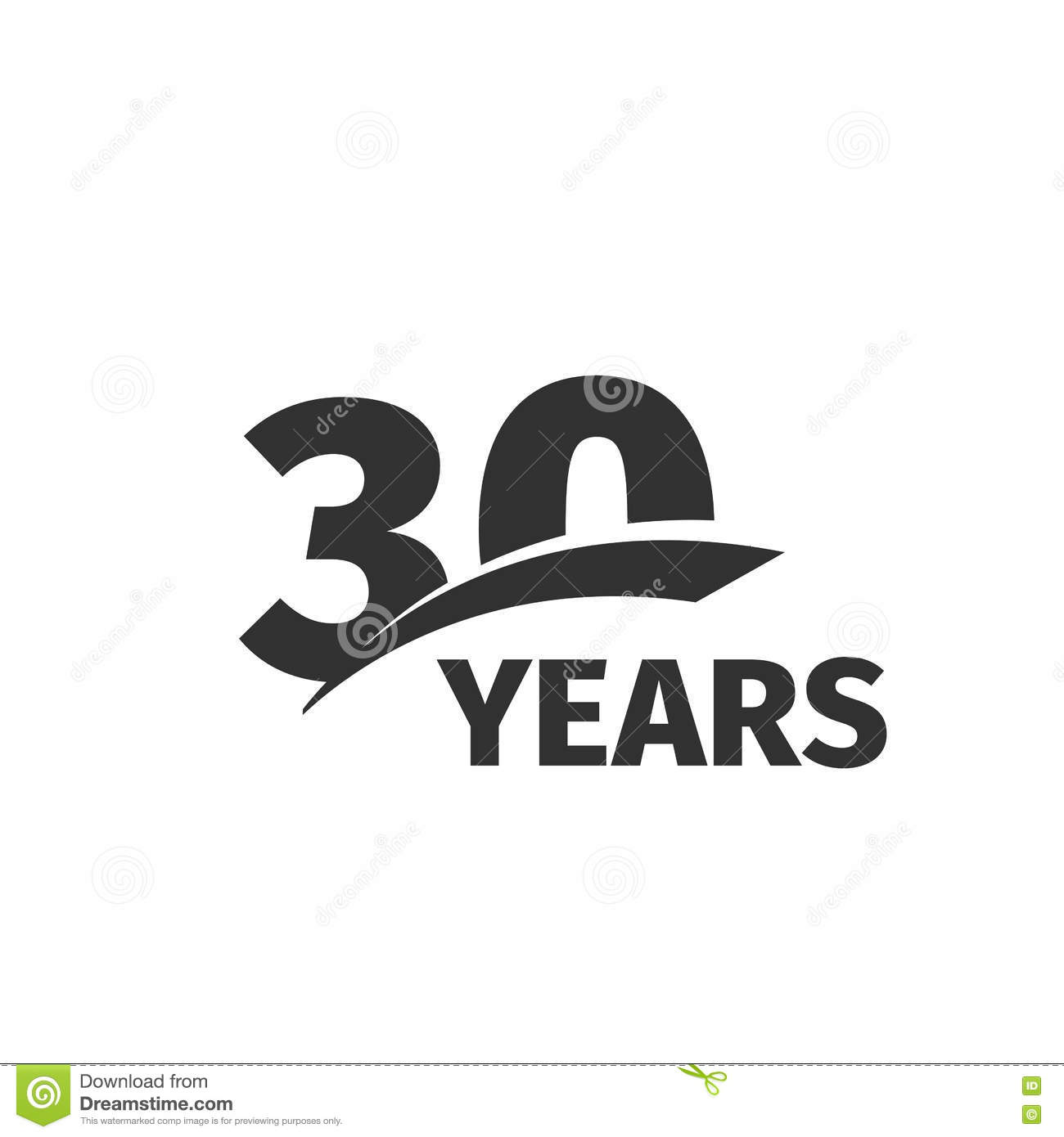 Thirty Years Anniversary Celebration Logotype 30th
