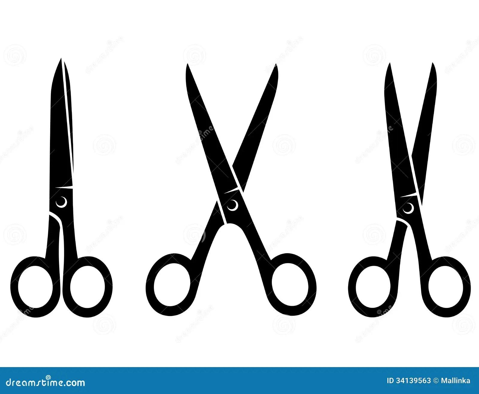 Isolated Black Scissors On White Background Stock Vector