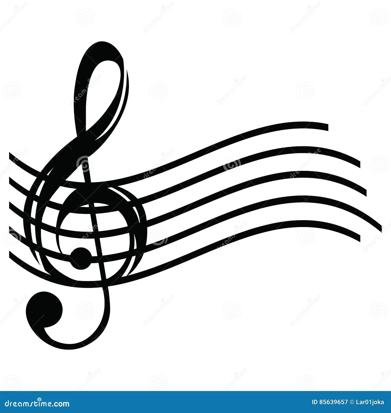Isolated Musical Pentagram Stock Vector Illustration Of