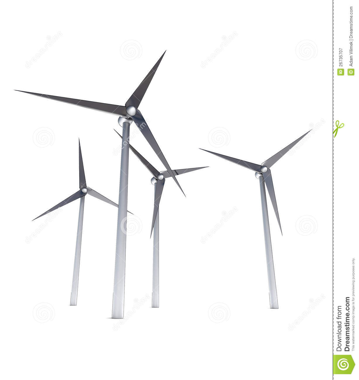 Isolated Wind Power Energy Concept Royalty Free Stock