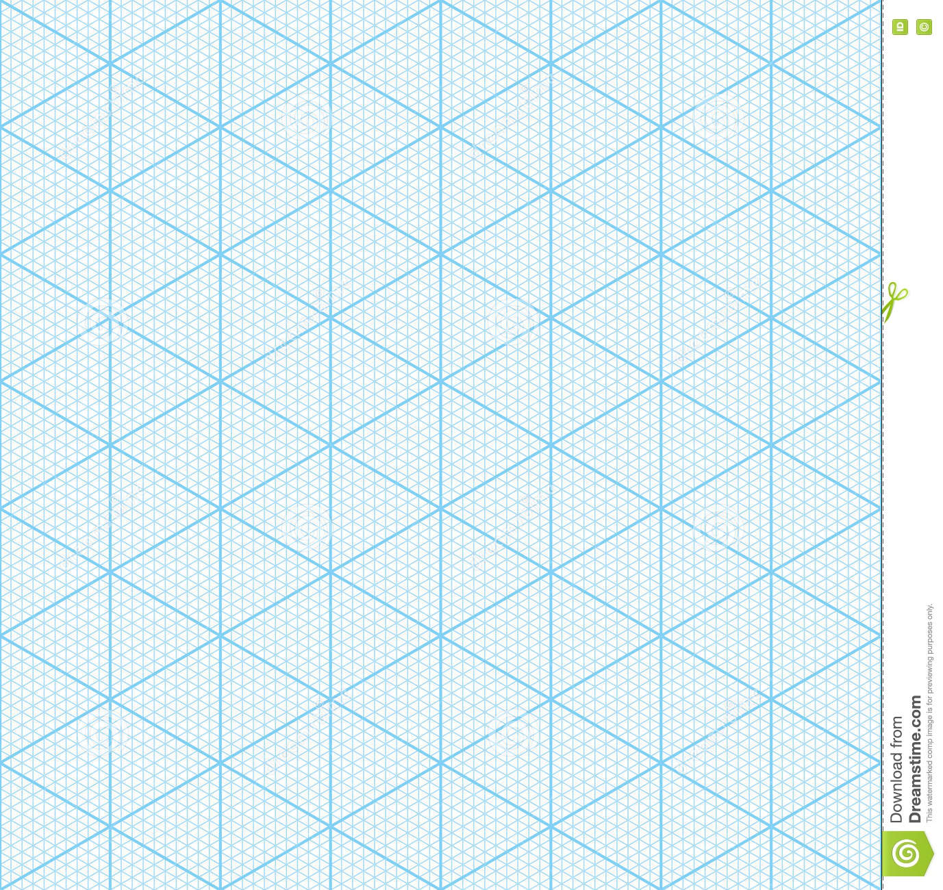Isometric Graph Paper For 3d Design Stock Vector