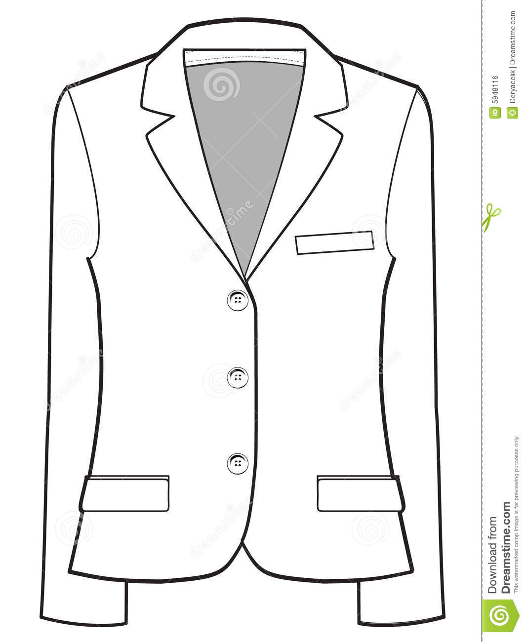 Jacket Vector Illustration Stock Vector Illustration Of