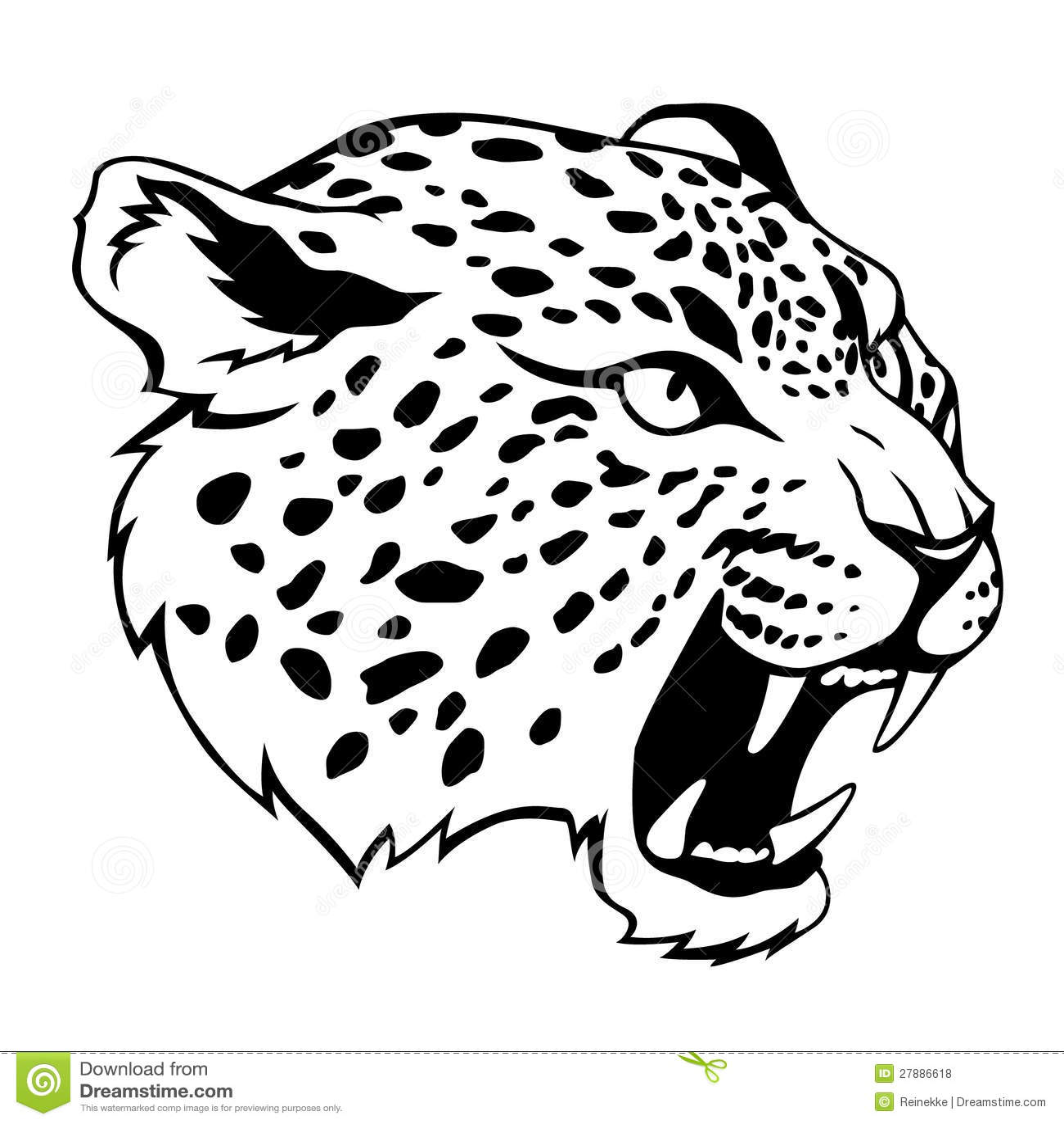 Jaguar Head Royalty Free Stock Photos