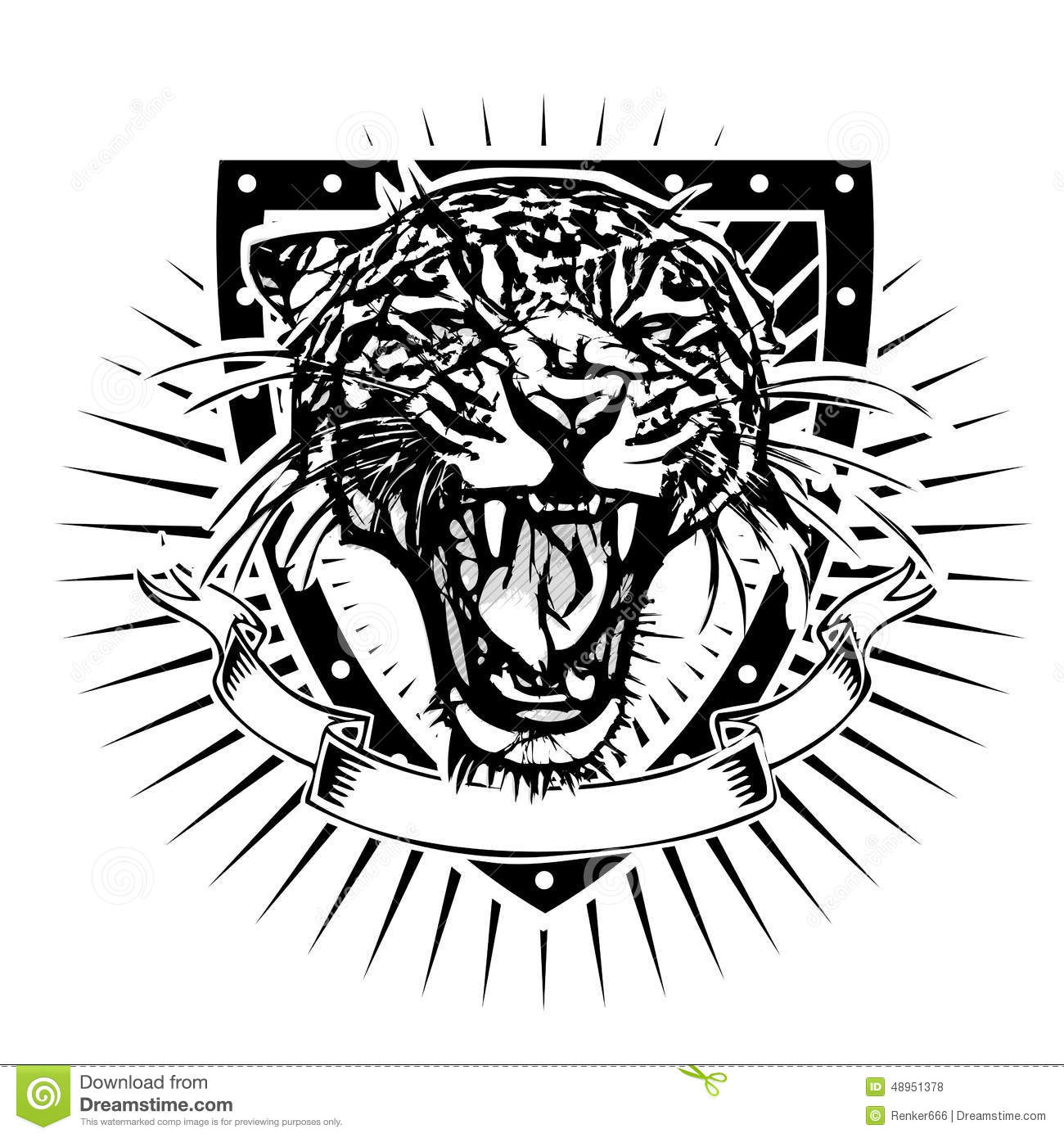 Heraldic Panther Vector Cartoon Vector